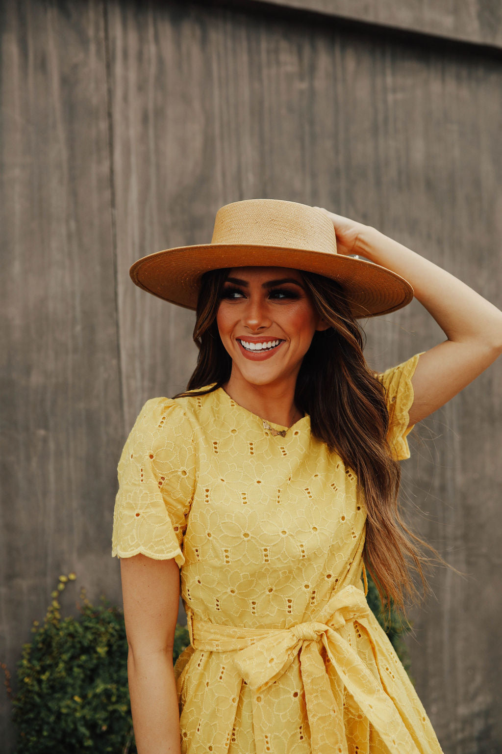 THE DAYTONA LACE DRESS IN MUSTARD