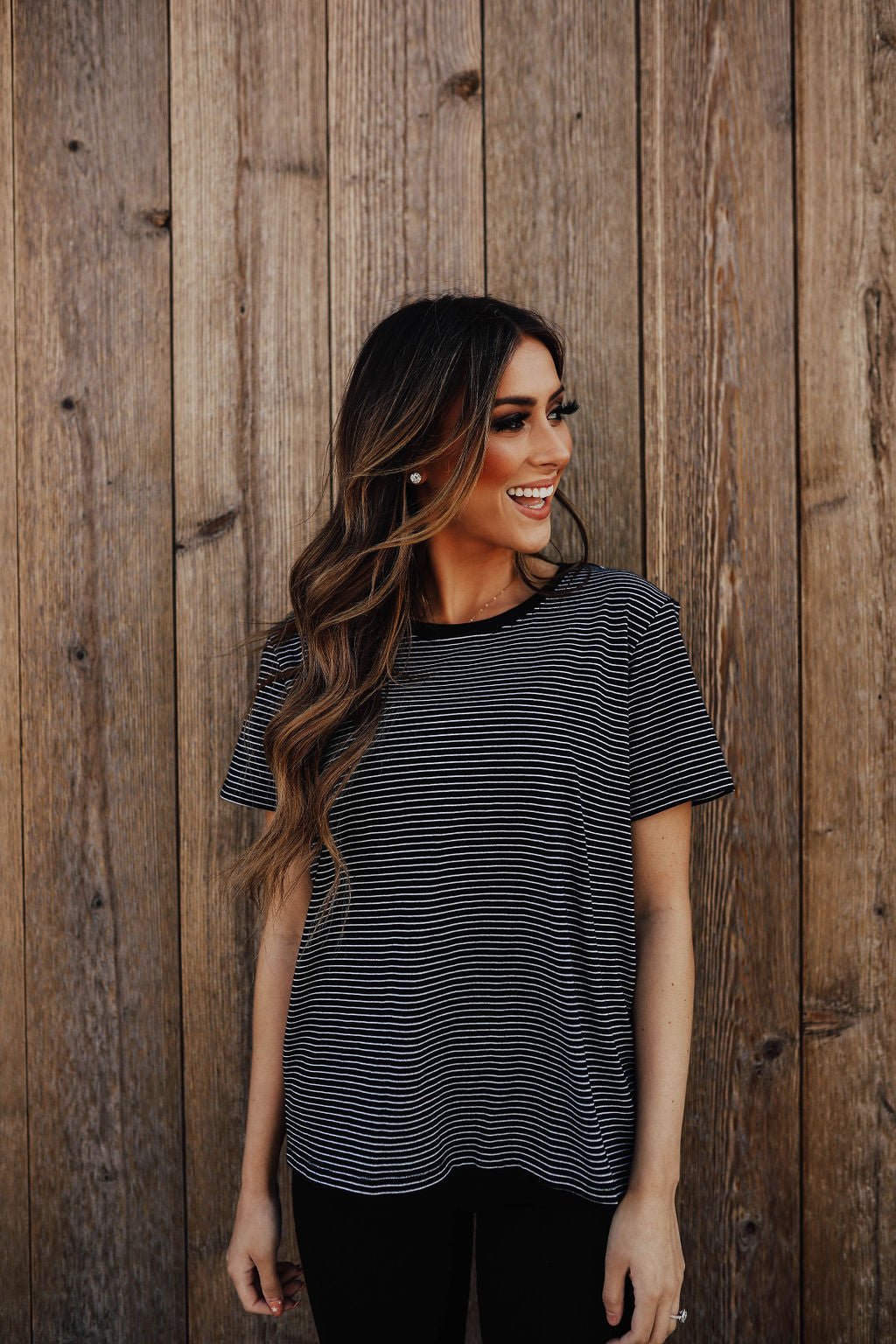 THE SAMMY STRIPED SHIRT IN BLACK