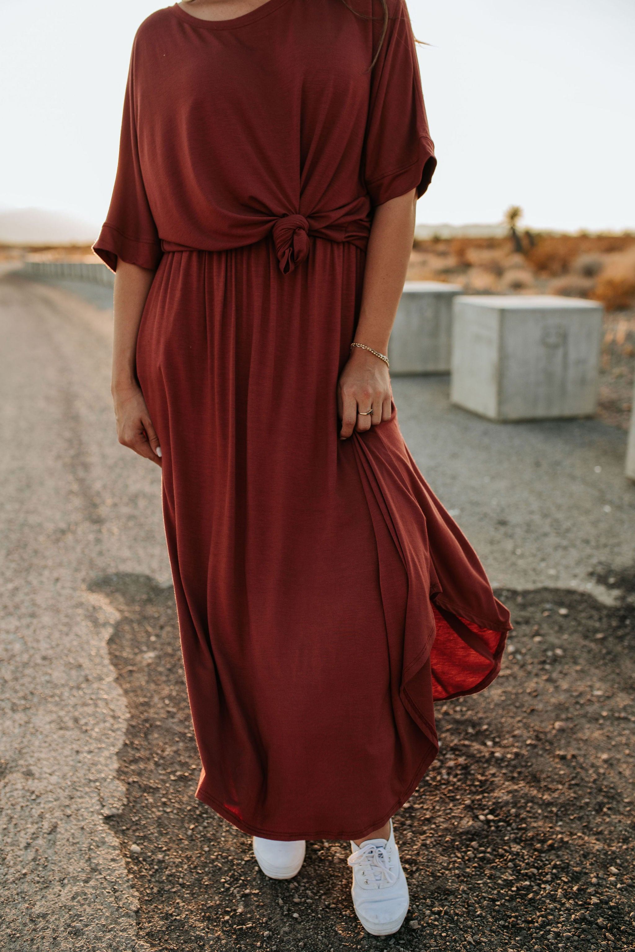 THE LOST WITHOUT YOU SKIRT SET IN MARSALA