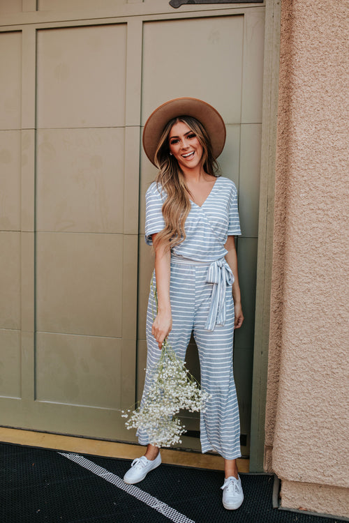 THE BOARDWALK JUMPSUIT IN BLUE