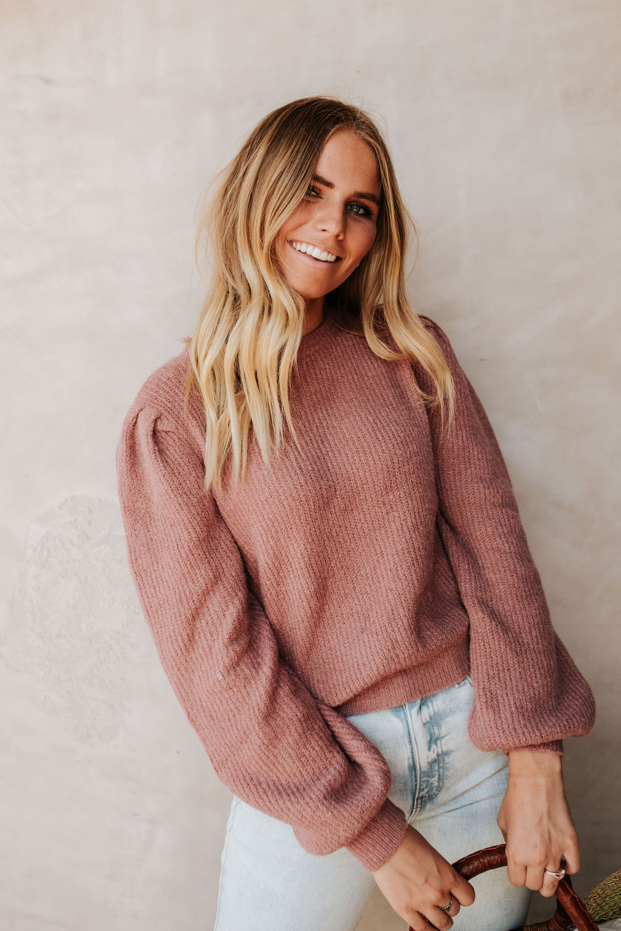 THE FALLIN' FOR YOU SWEATER IN MAUVE