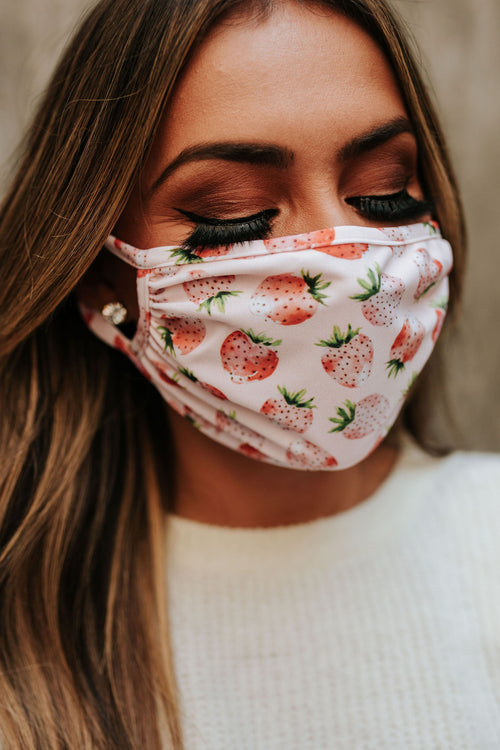 SUMMER STRAWBERRY NON-MEDICAL FACE MASK BY PINK DESERT