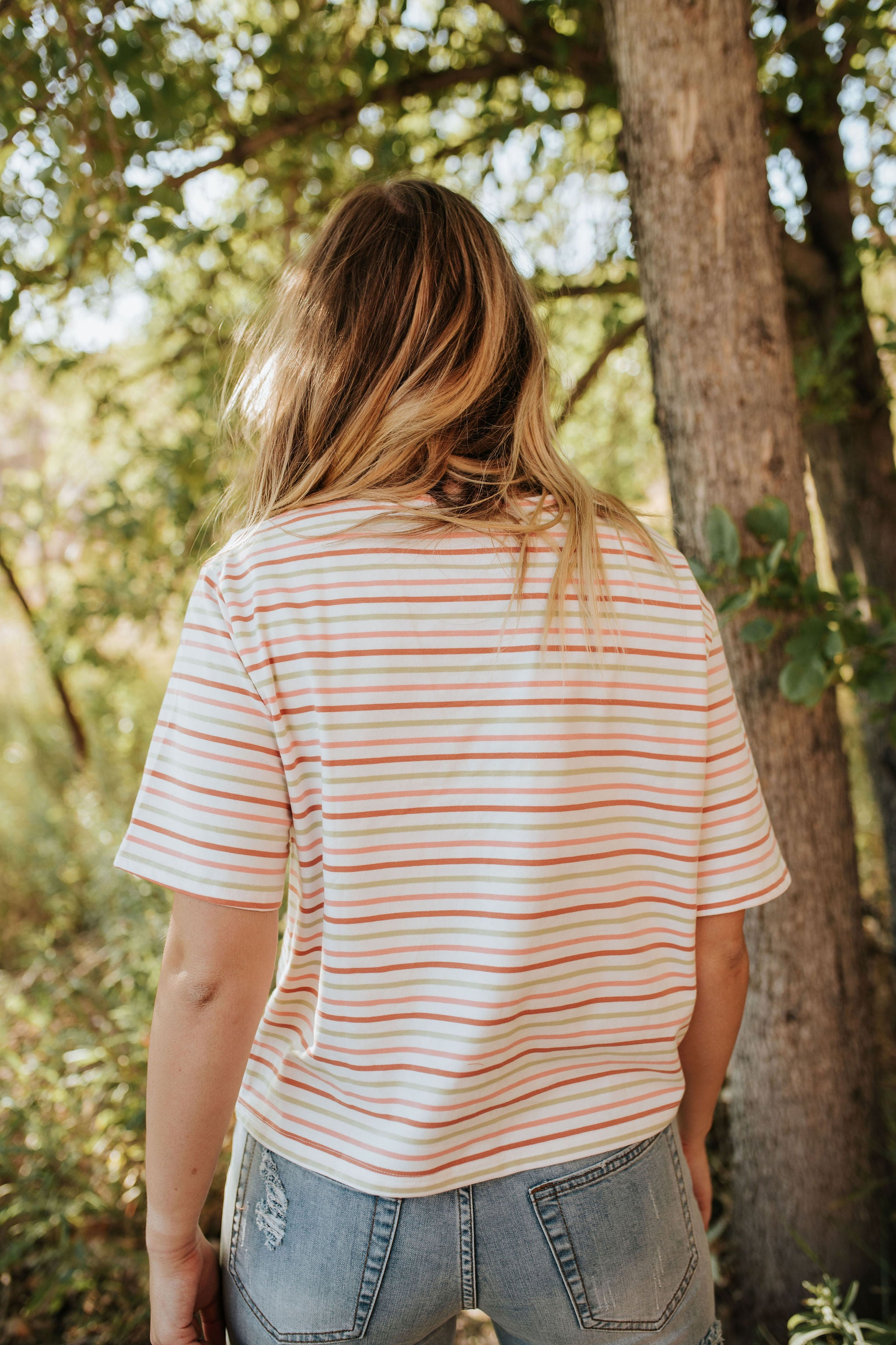 FREE AS A BIRD TOP IN MULTI STRIPE