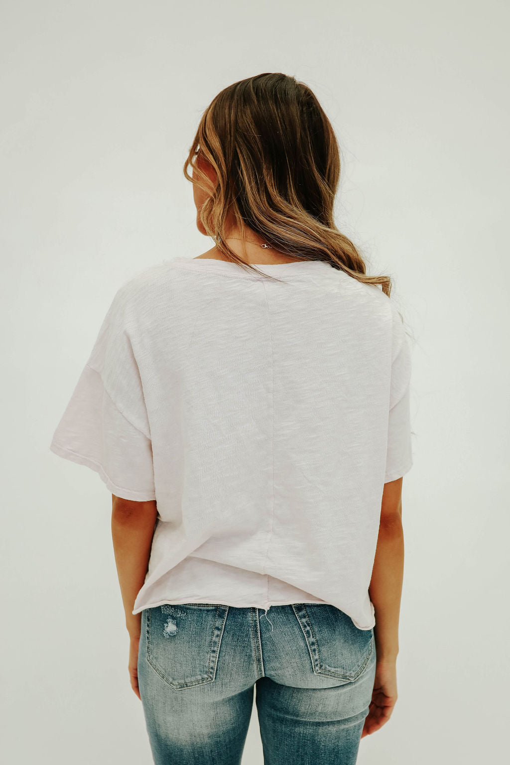 THE CORALINE CROPPED TOP IN SOFT LAVENDER