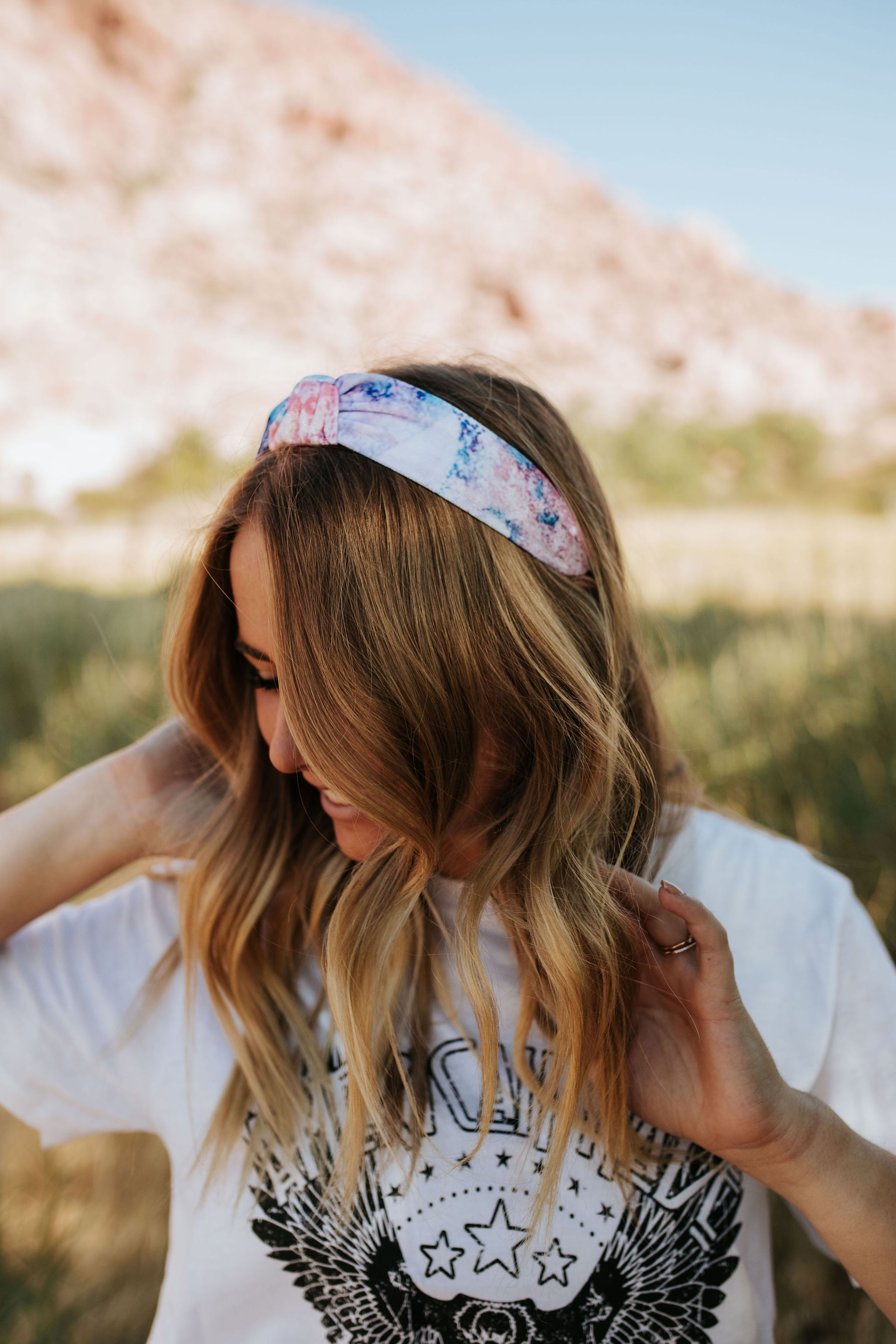 THE TOP KNOT HEADBAND IN TIE DYE