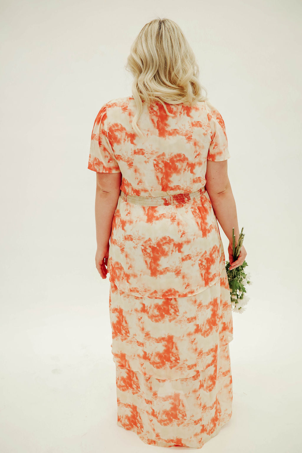 THE CAITLYN DRESS IN CORAL