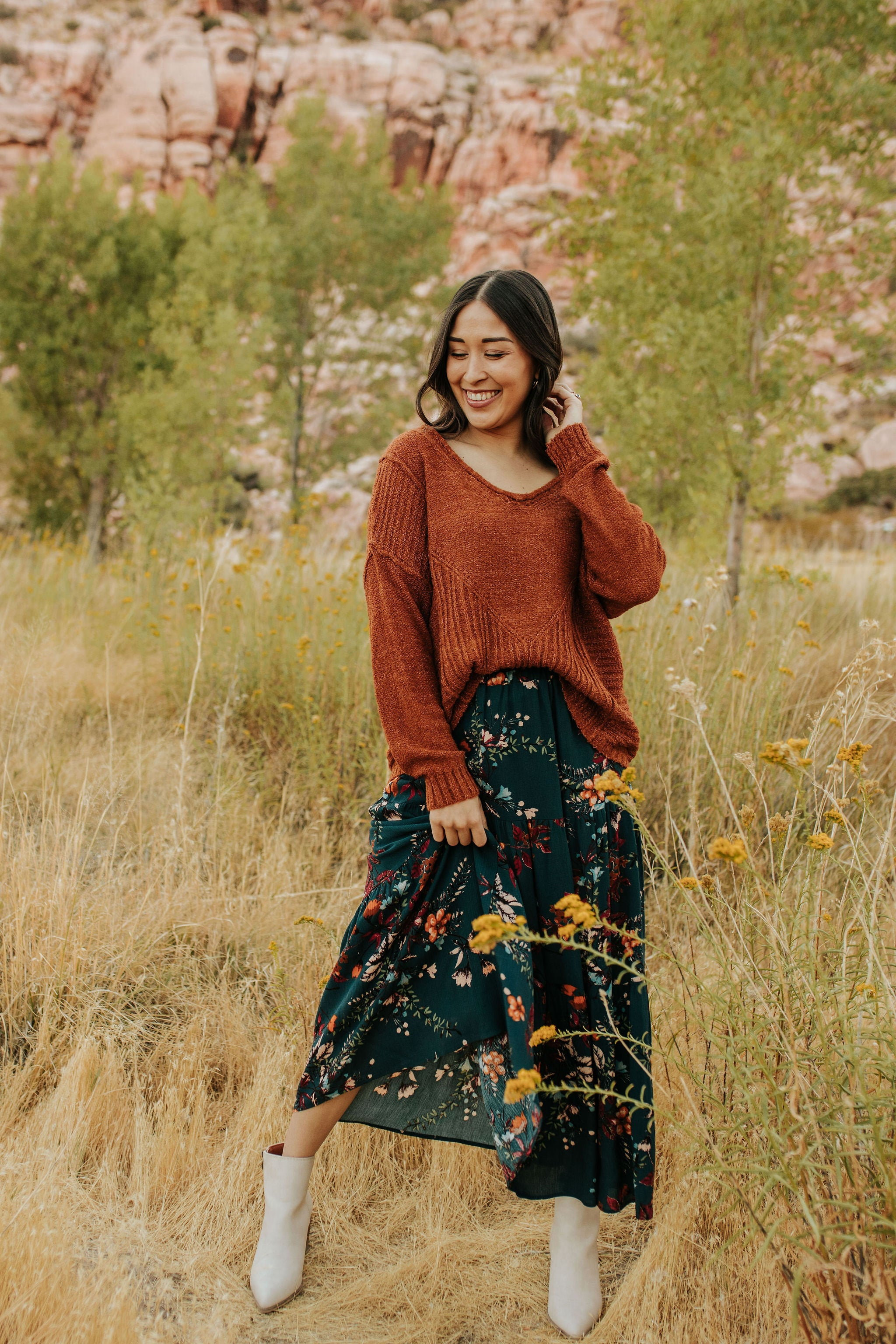 THE AUTUMN BREEZE SKIRT IN TEAL