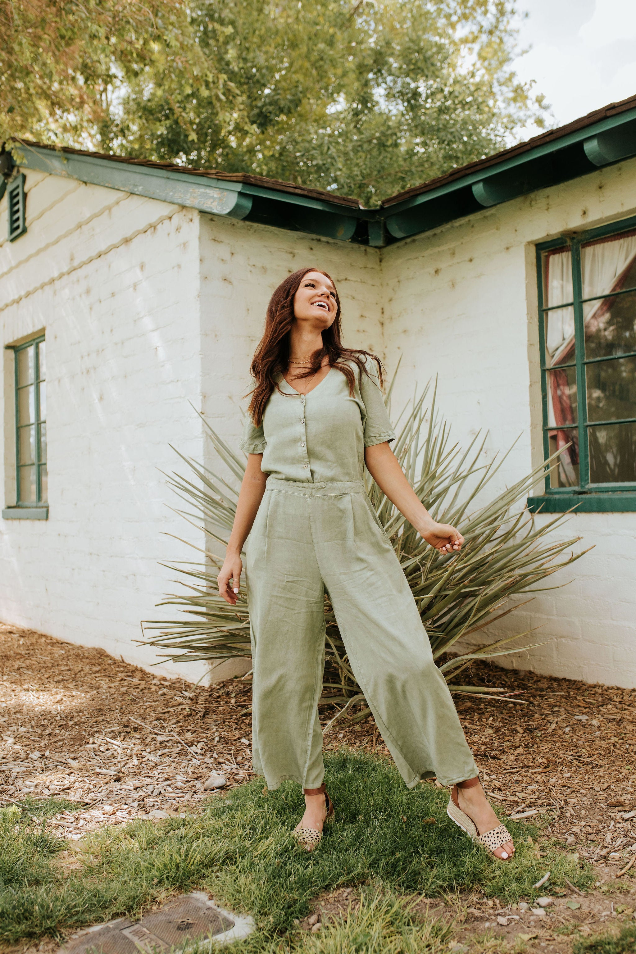 THE SAHARA JUMPSUIT IN SAGE