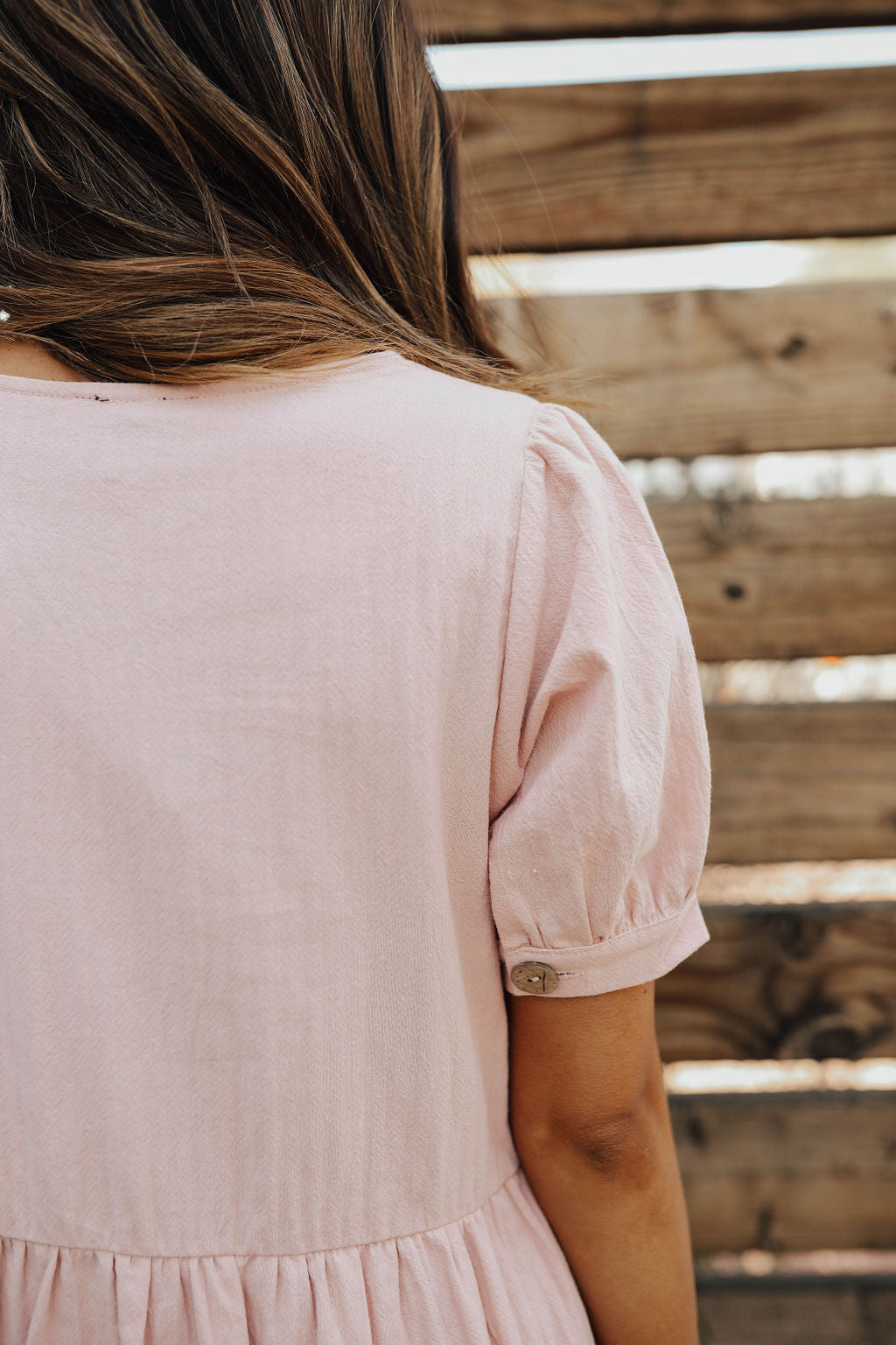 THE LAYLA BUTTON DOWN DRESS IN MAUVE