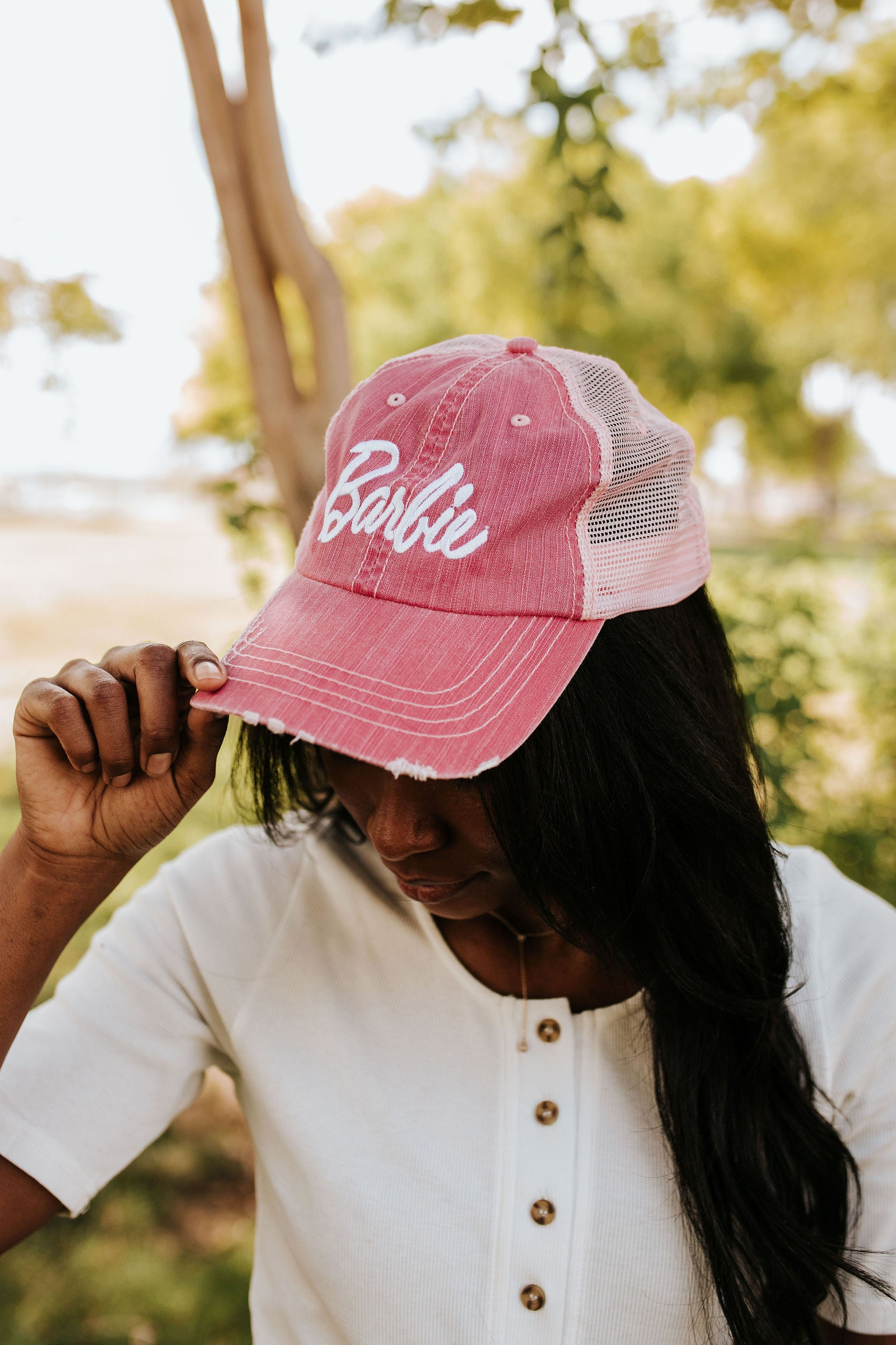 THE BARBIE TRUCKER HAT IN PINK