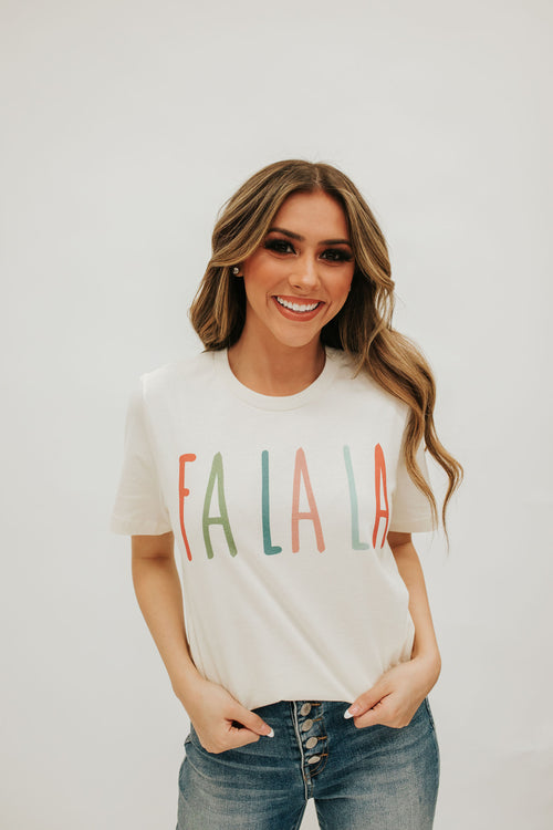 THE FA LA LA GRAPHIC TEE IN CREAM