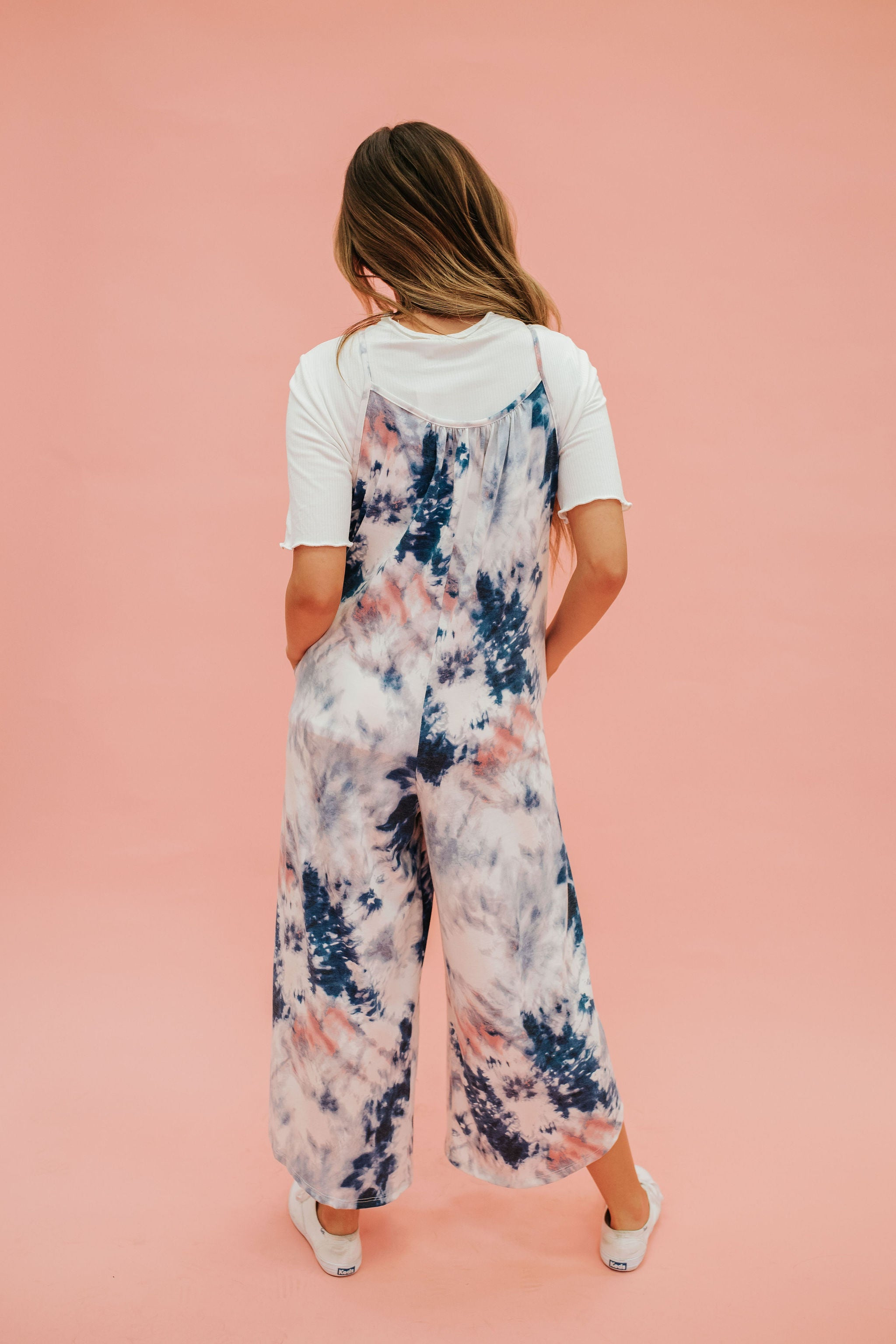 THE NINA TIE DIE JUMPSUIT IN NAVY