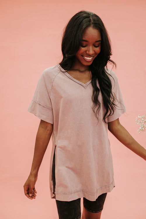 THE BELLA-ROSE TOP IN MAUVE