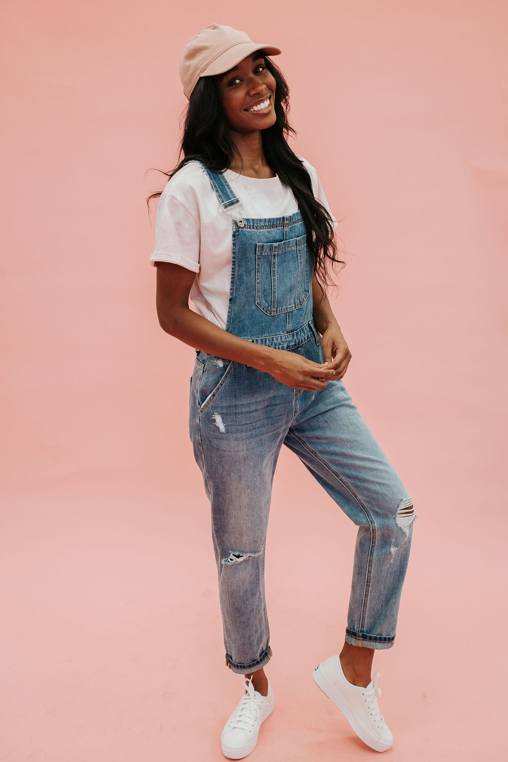 THE RELAXED FIT OVERALL IN MEDIUM DENIM