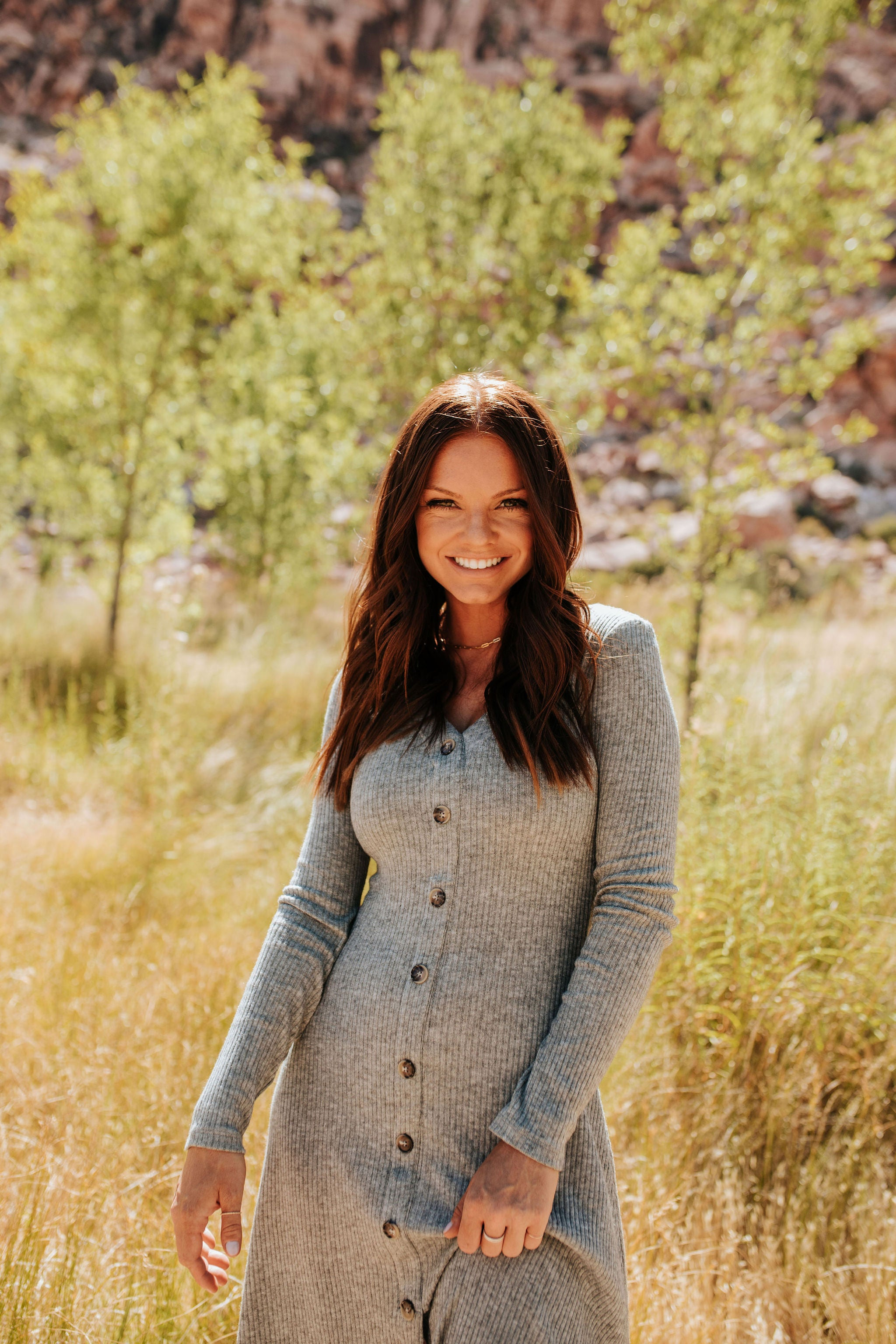 THE TAHOE SWEATER DRESS IN HEATHER GREY