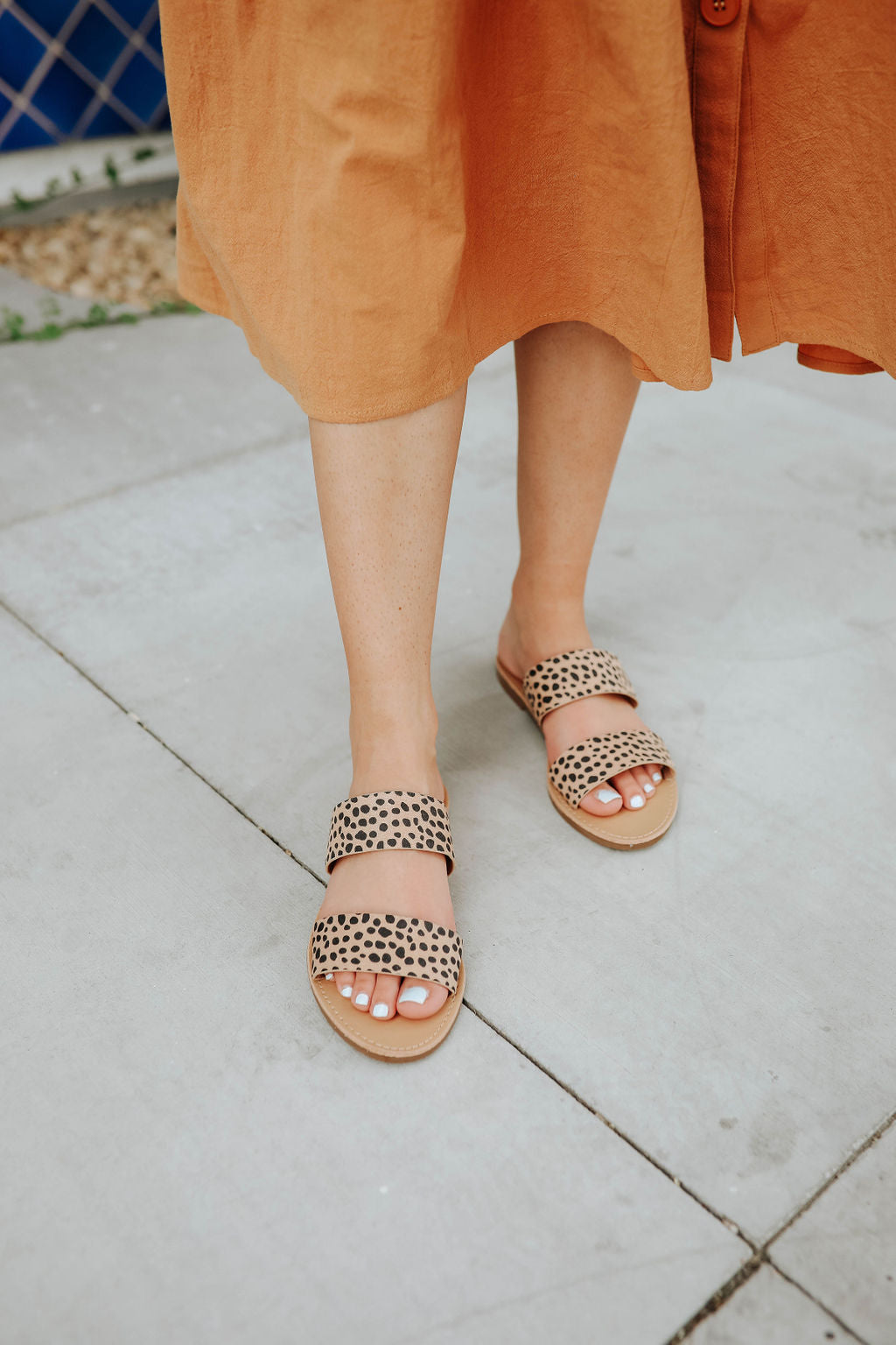 THE DOUBLE STRAP SANDAL IN CHEETAH