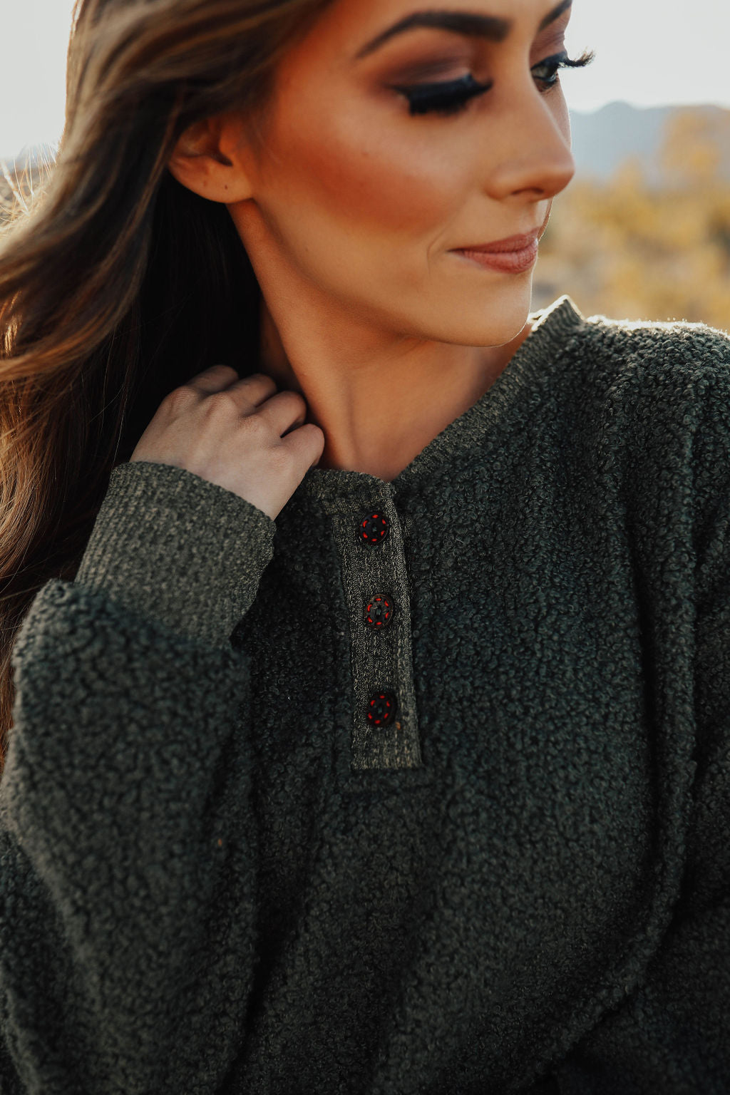 THE STANFORD FLEECE PULLOVER IN OLIVE