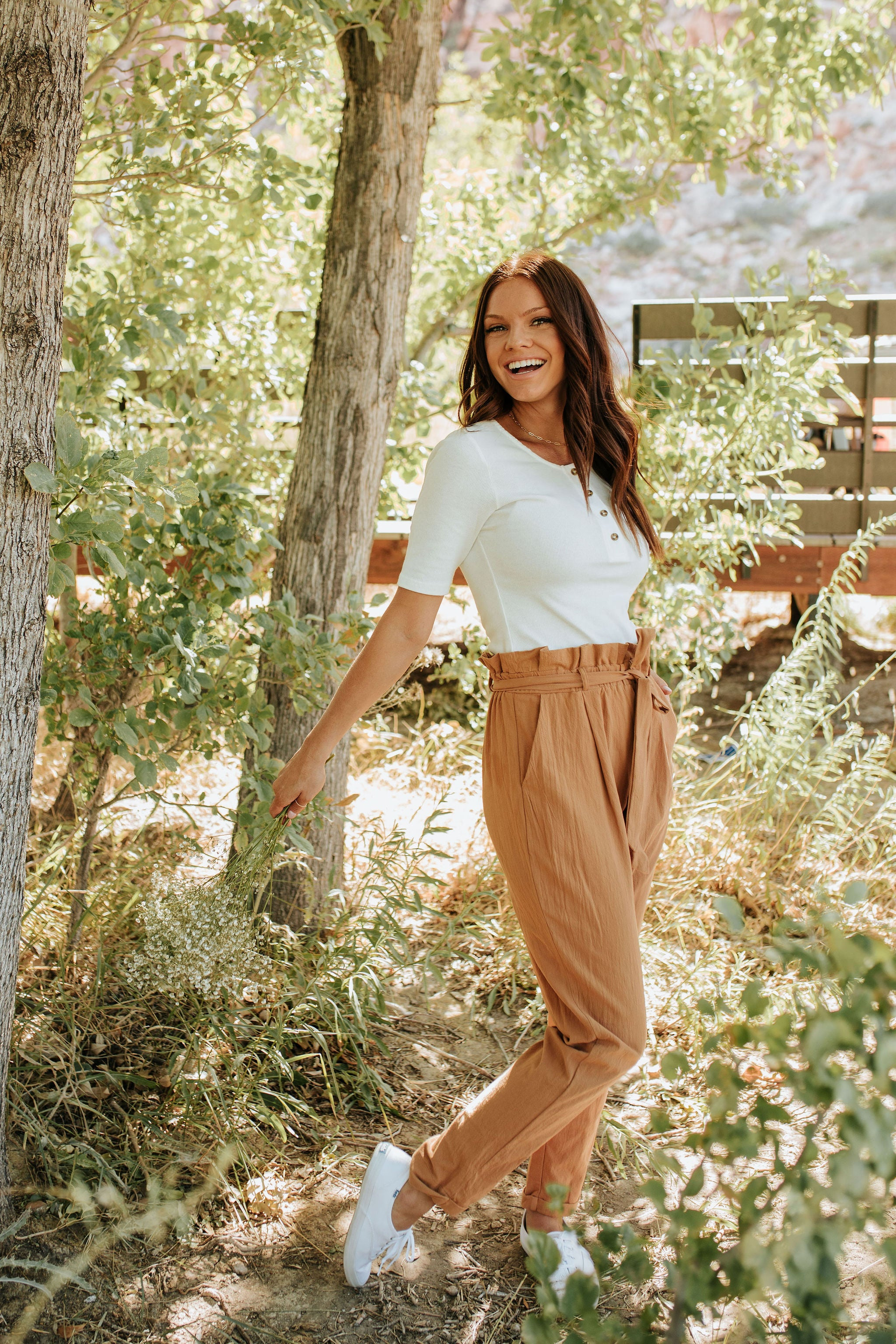 THE WARM DESERT ELASTIC WAIST PANT IN CAMEL