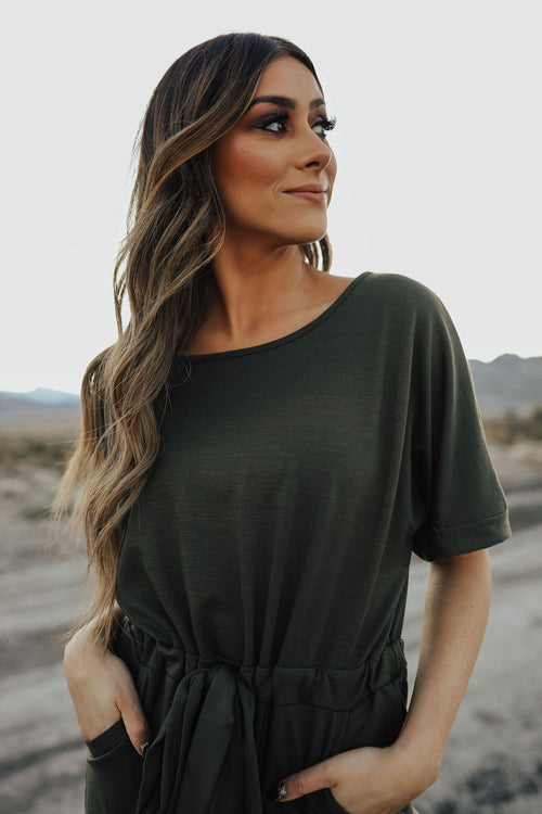 THE EVERGLADE JUMPSUIT IN OLIVE