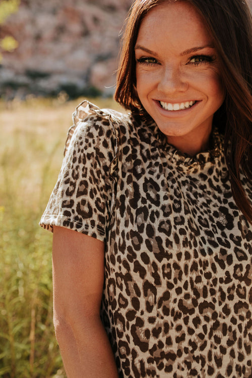 THE FEELIN' FIERCE TOP IN LEOPARD