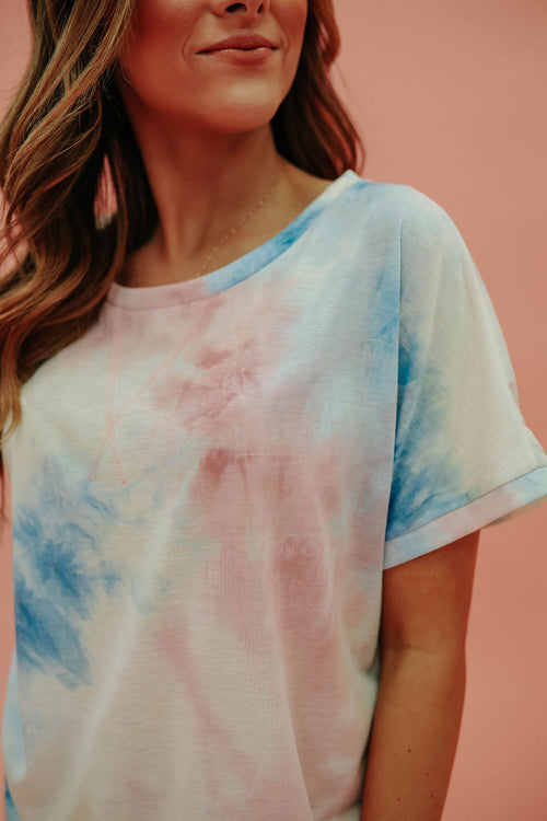 THE DREAMY MULTI COLOR TIE DYE TOP