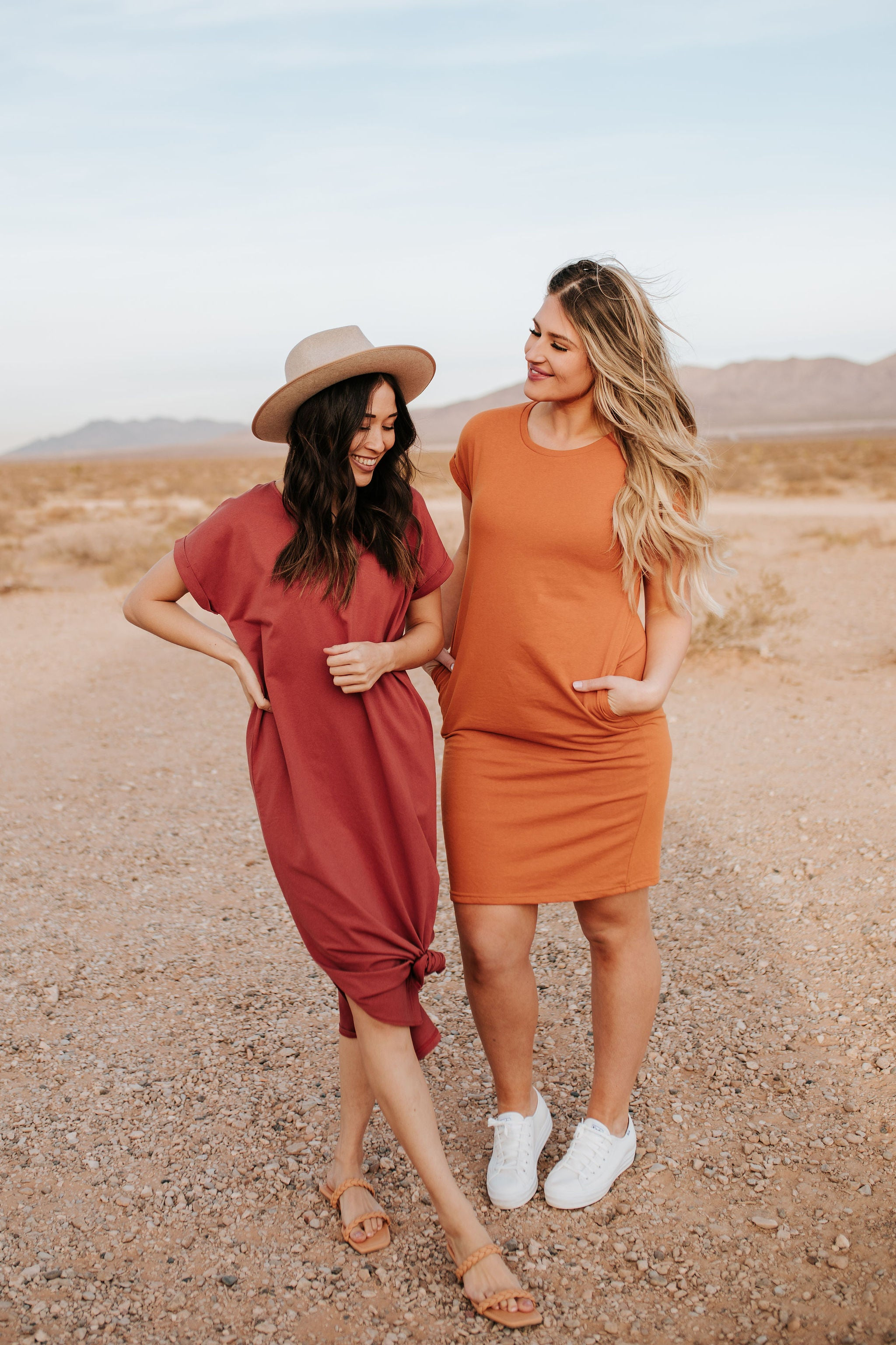 THE T-SHIRT MAXI DRESS BY PINK DESERT IN REDWOOD