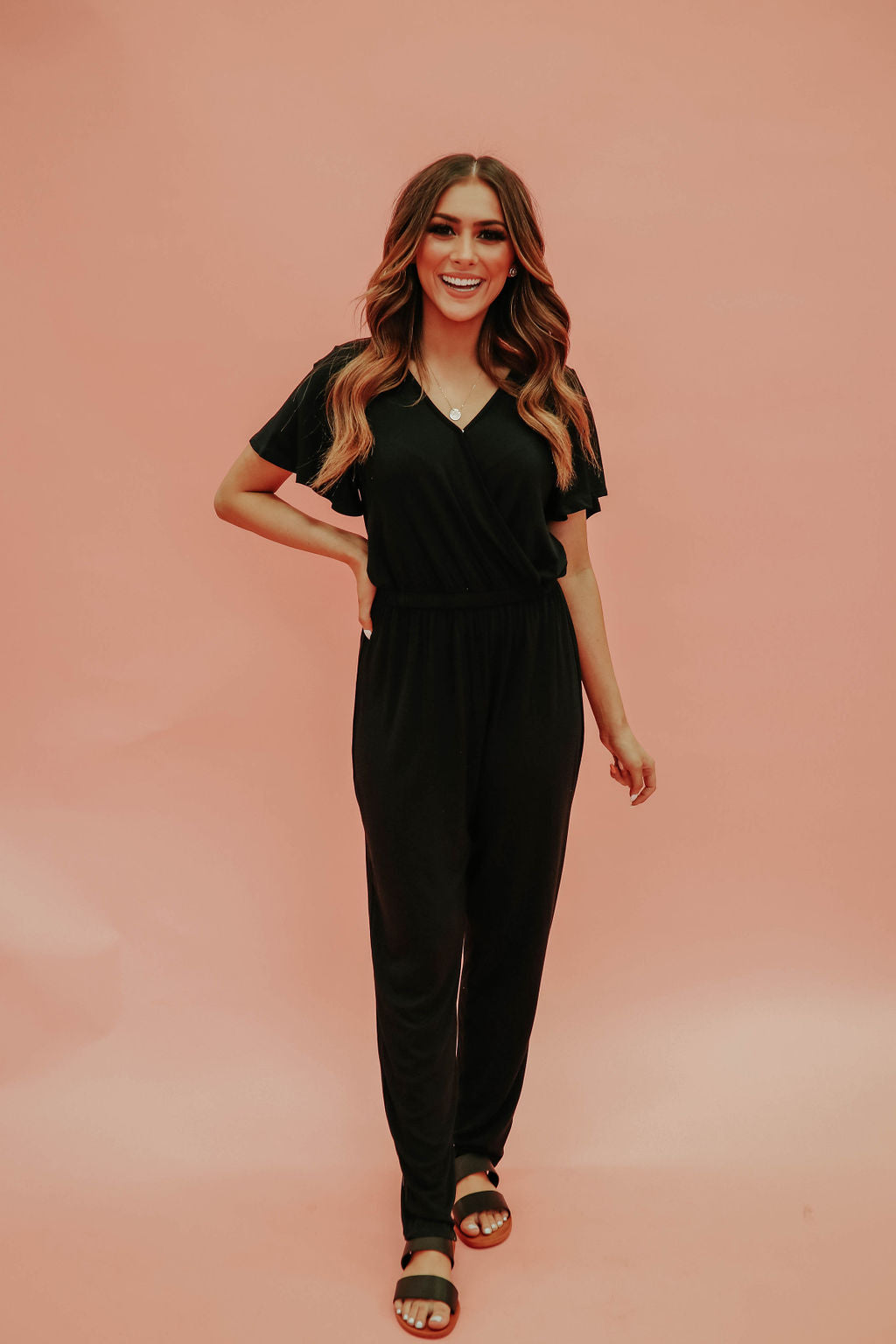 THE JOANNA JUMPSUIT IN BLACK
