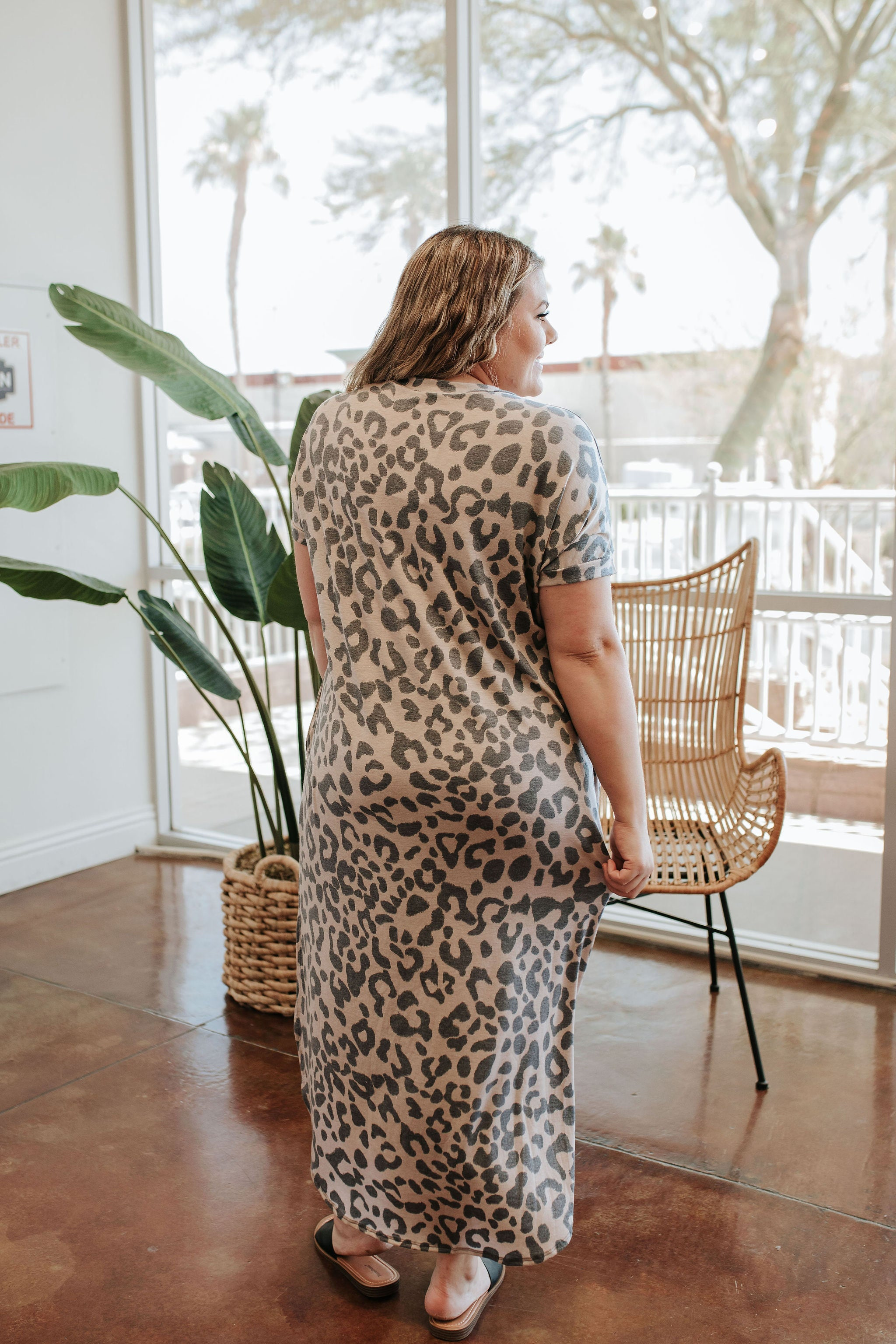 THE LINDEN CASUAL DRESS IN LEOPARD