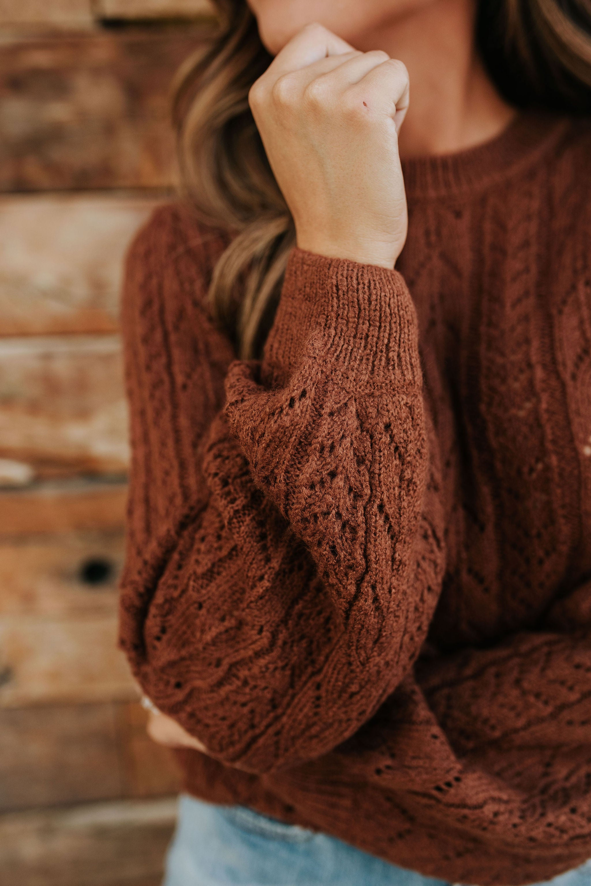 THE FOLKLORE SWEATER IN TOFFEE