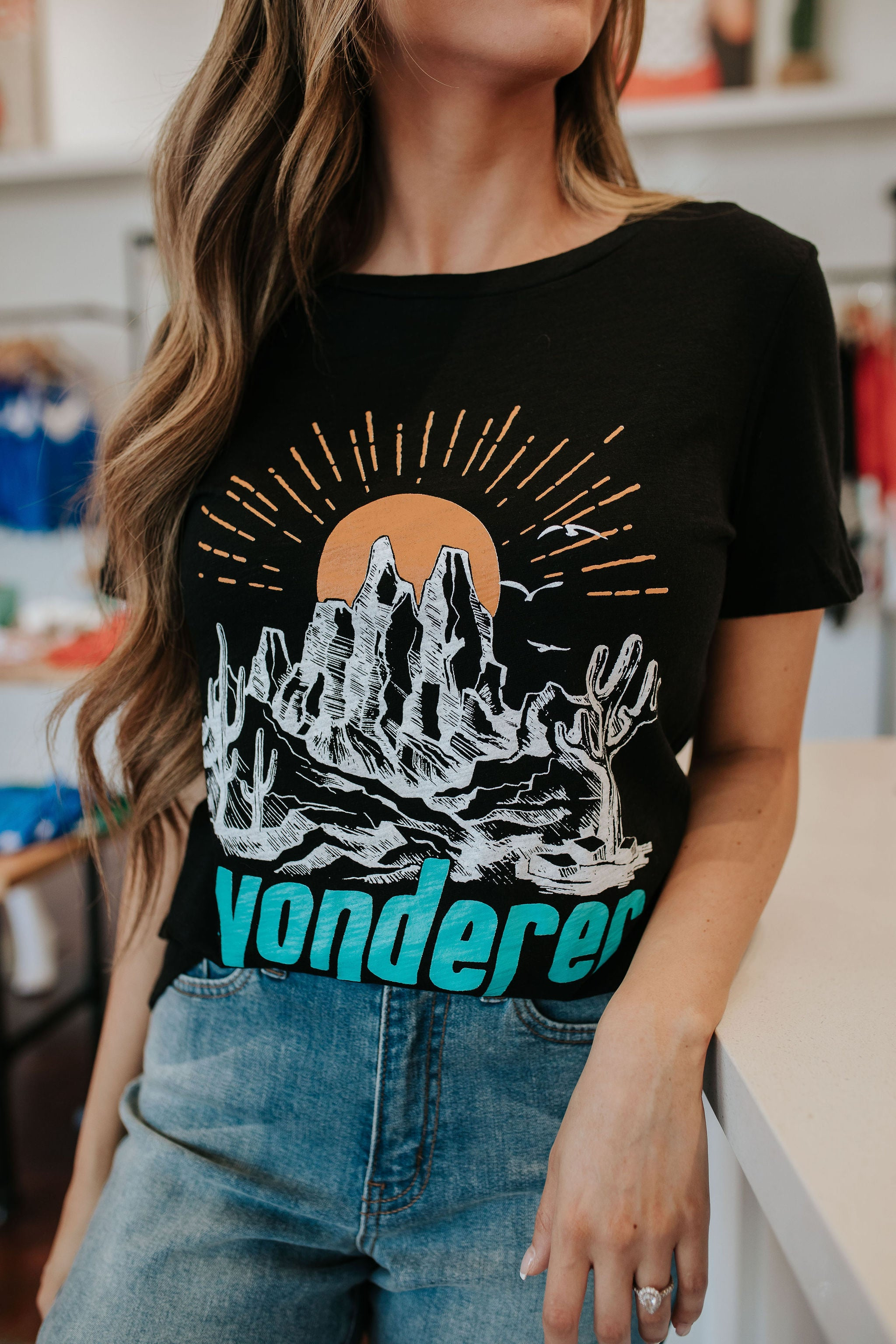 THE WONDERER GRAPHIC TEE IN BLACK