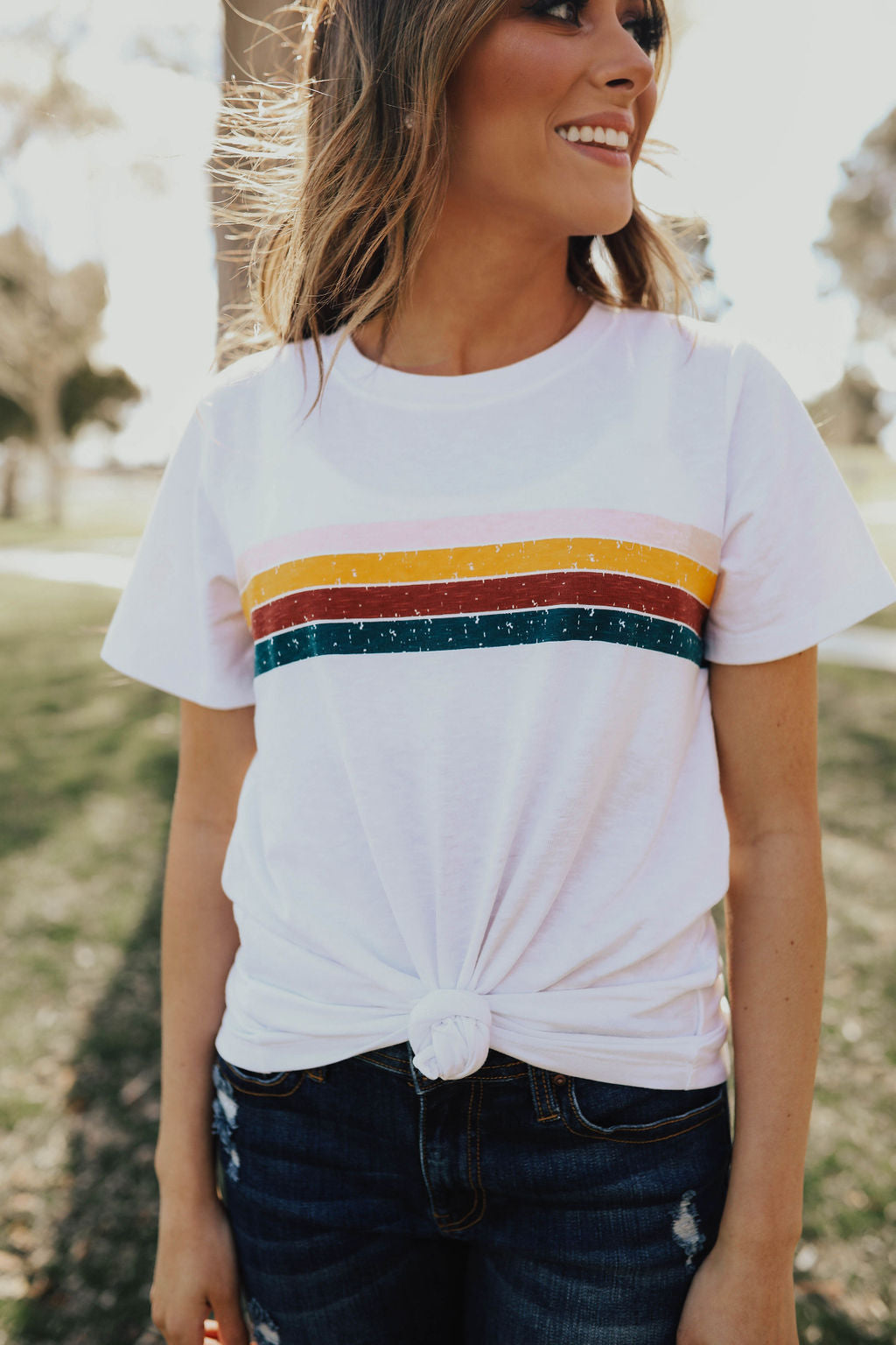 THE VINTAGE GRAPHIC TEE IN WHITE