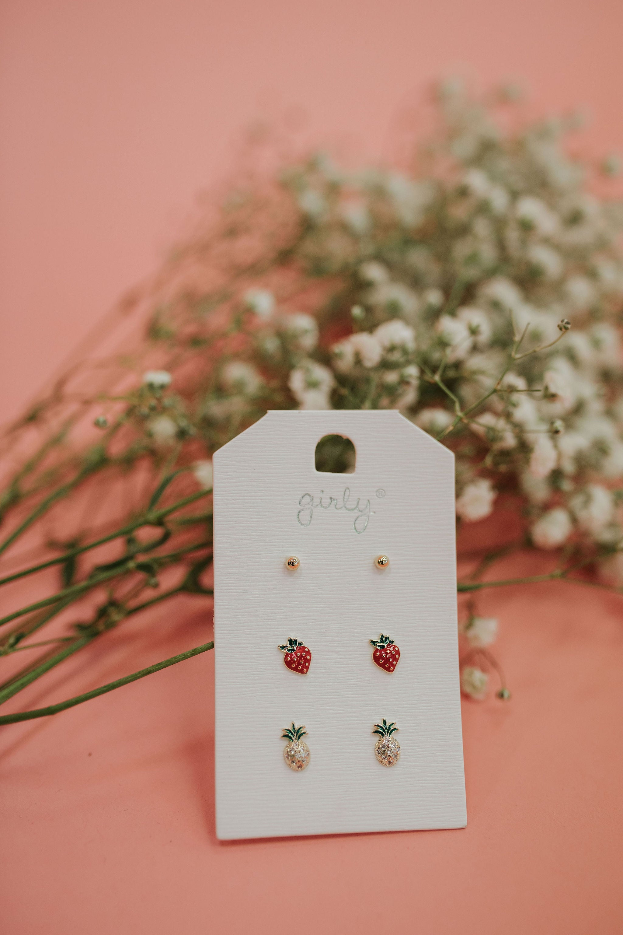 THE DAINTY FRUIT STUD EARRING SET