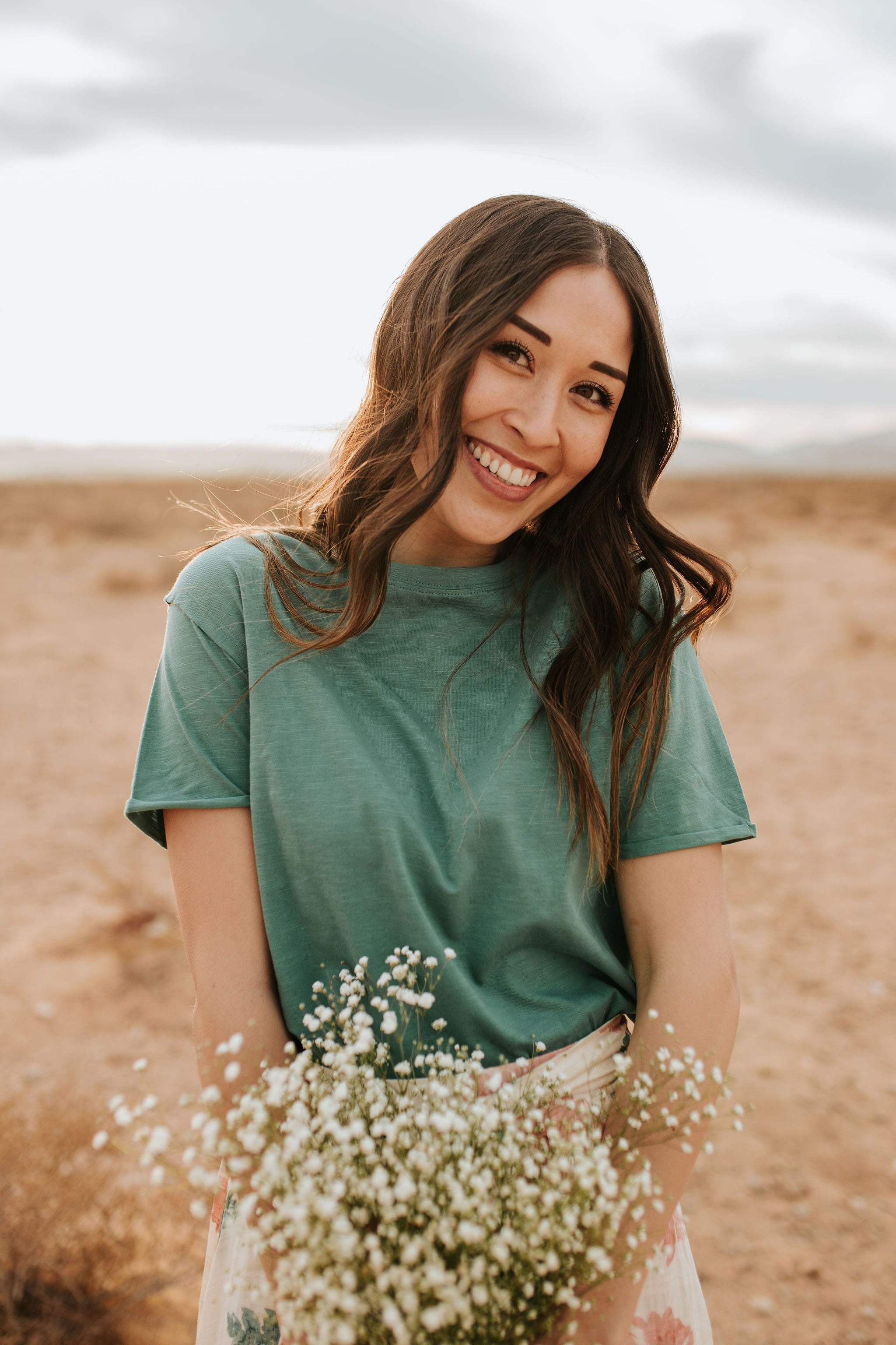 THE TARA TEE IN TEAL