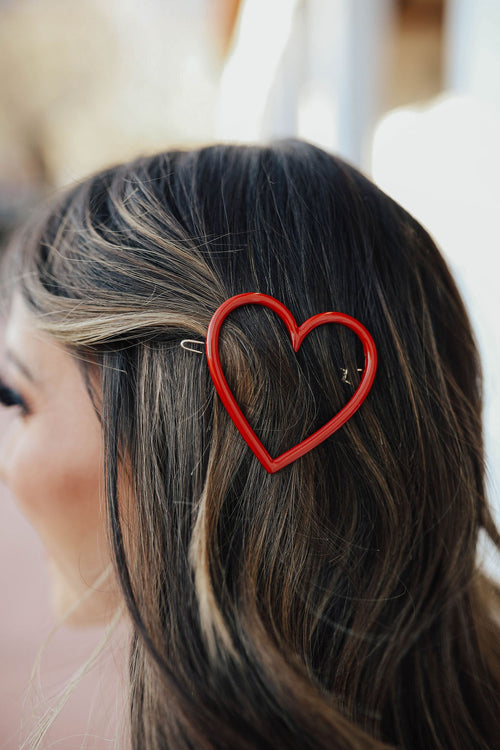 THE HEART HAIRPIN IN RED
