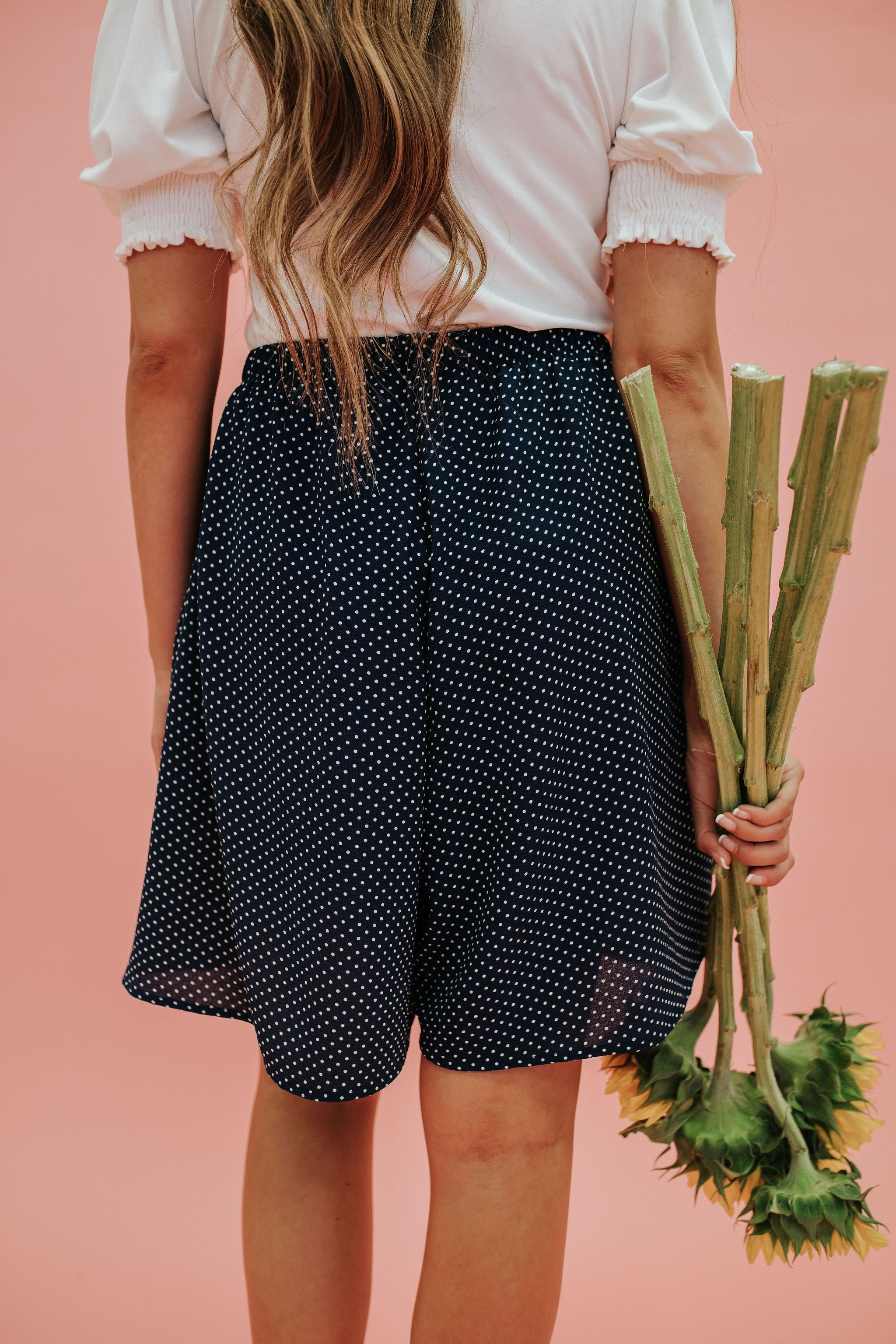 THE PENNIE POLKA DOT SHORTS IN NAVY
