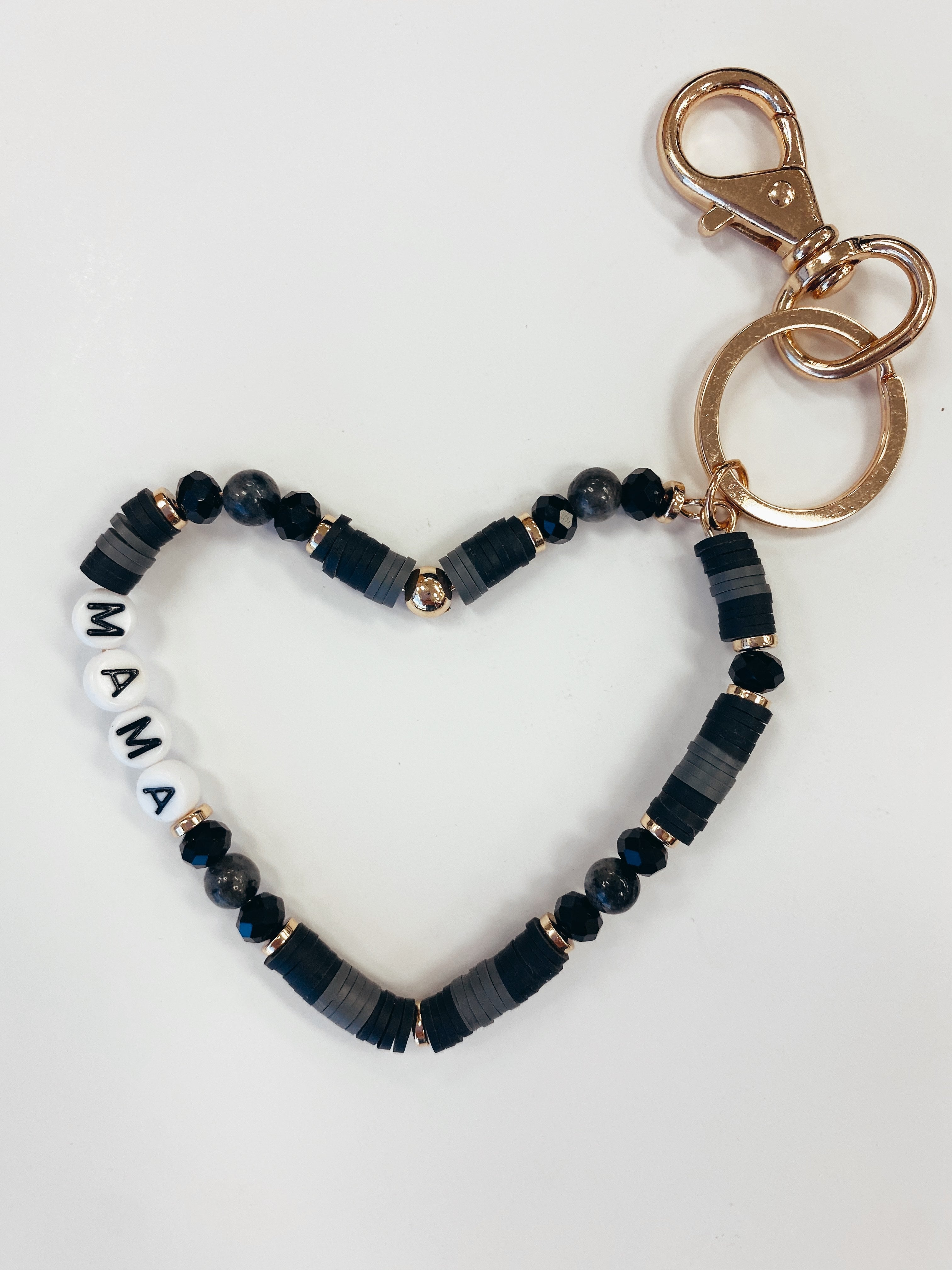 THE MAMA HEART SHAPE KEY CHAIN
