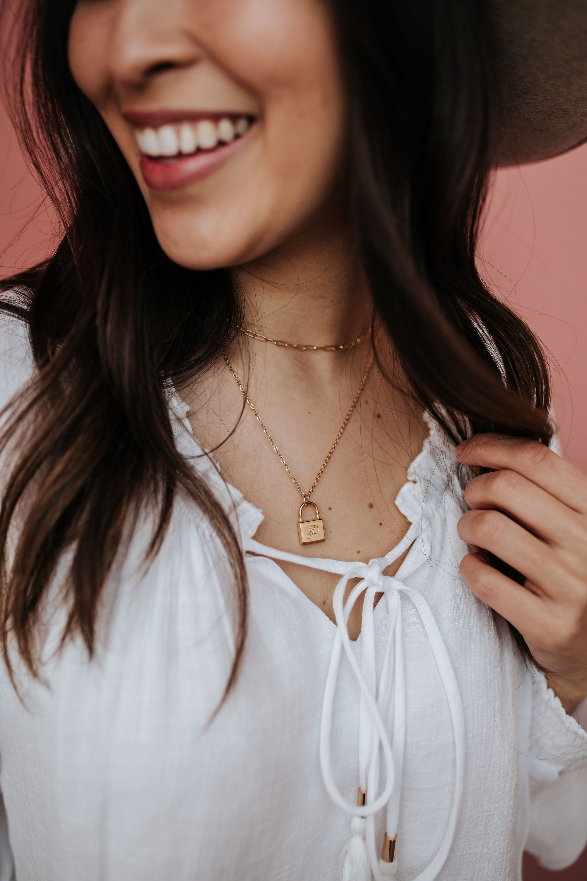 THE GOLD INITIAL LOCKET NECKLACE