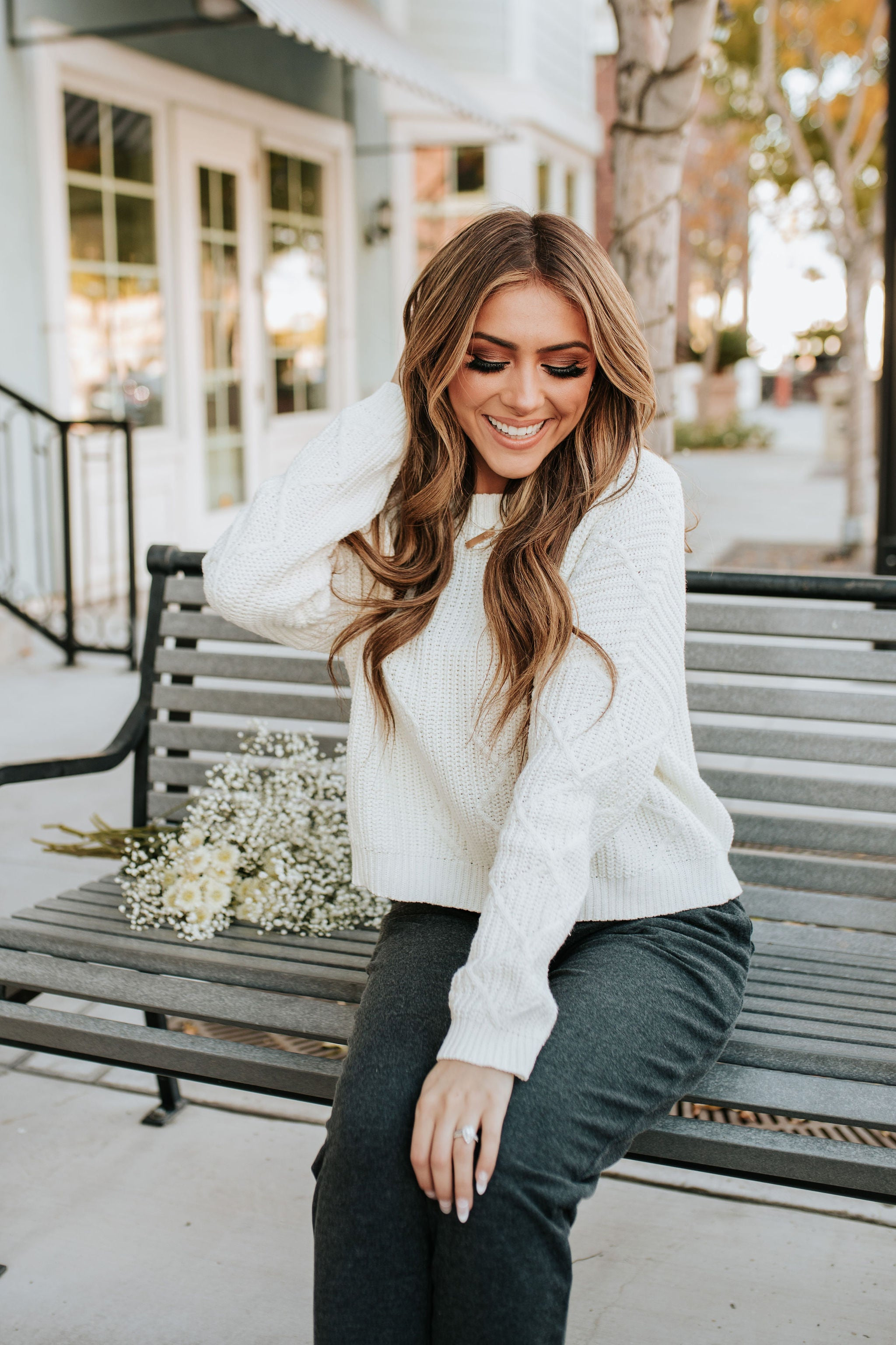 THE CALGARY CROPPED SWEATER IN IVORY