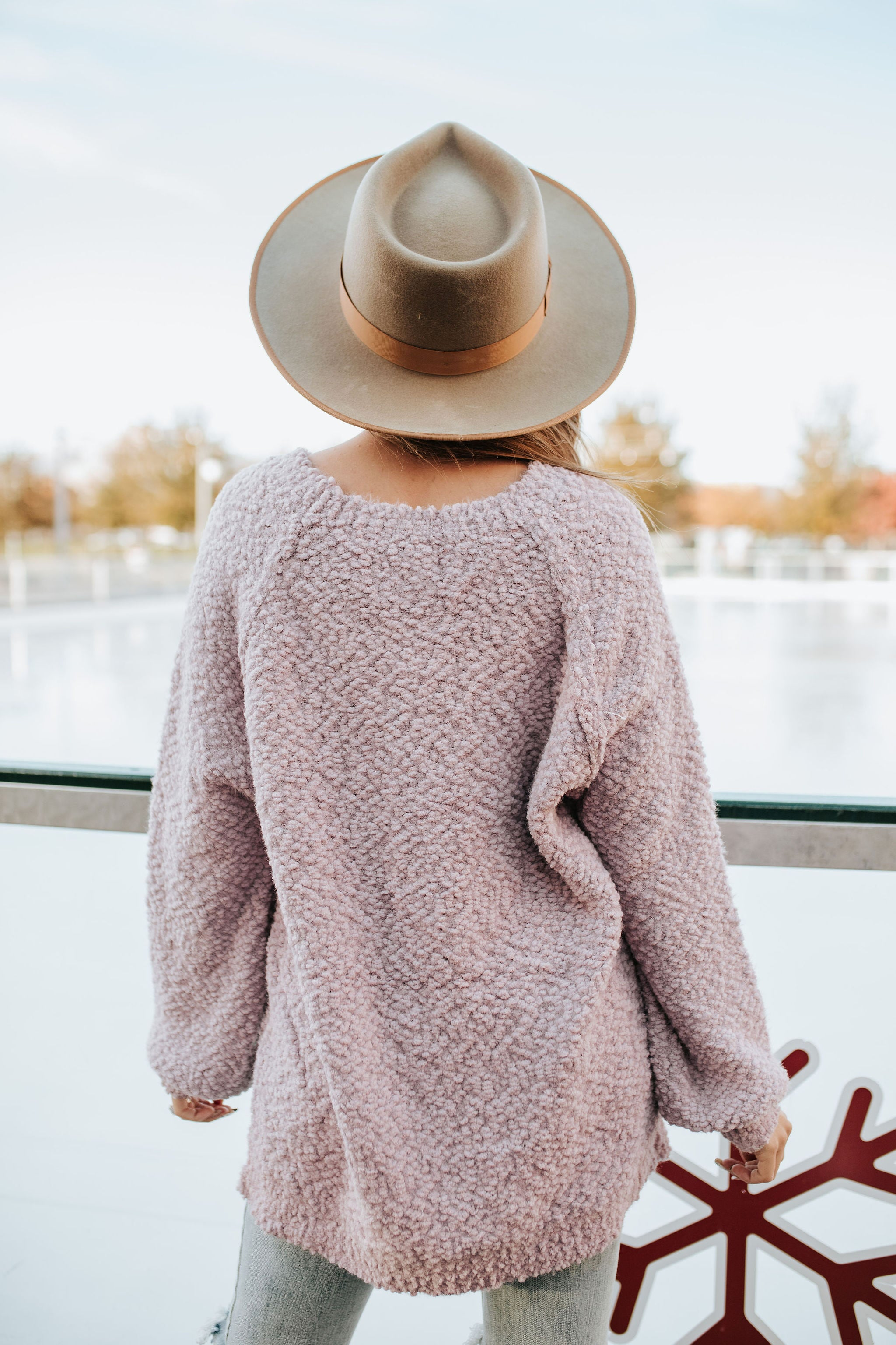 THE POSIE POPCORN SWEATER IN LILAC