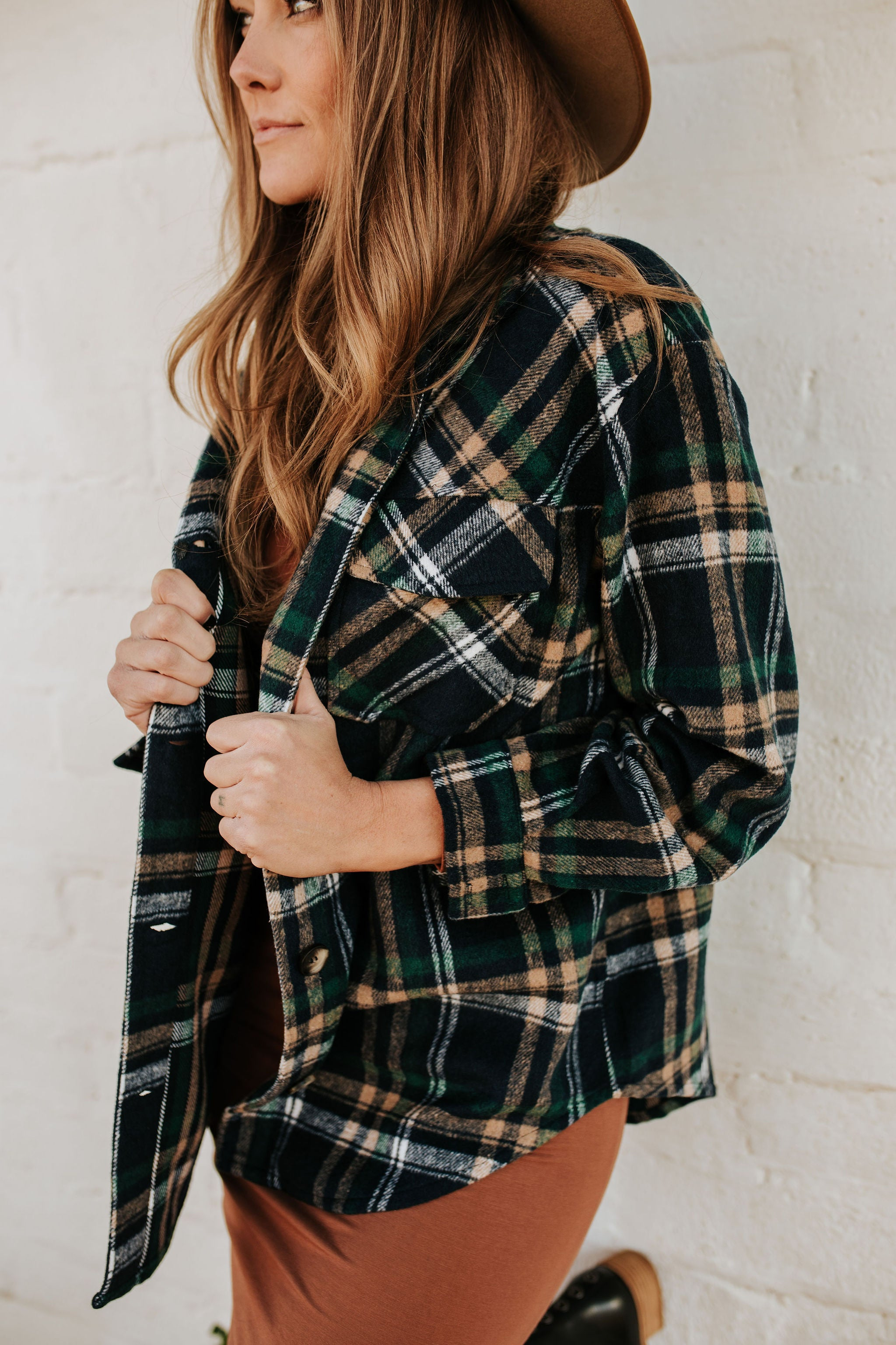 THE FLETCHER OVERSIZED FLANNEL IN NAVY