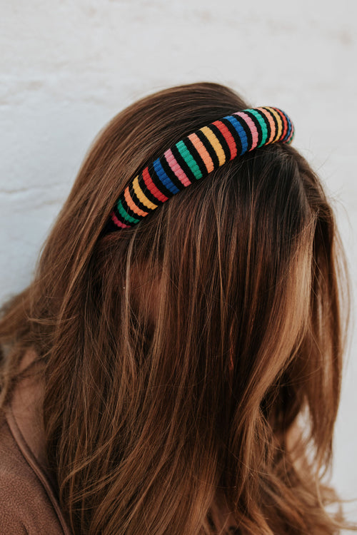 THE RAINBOW HEADBAND IN MUTLI-STRIPE