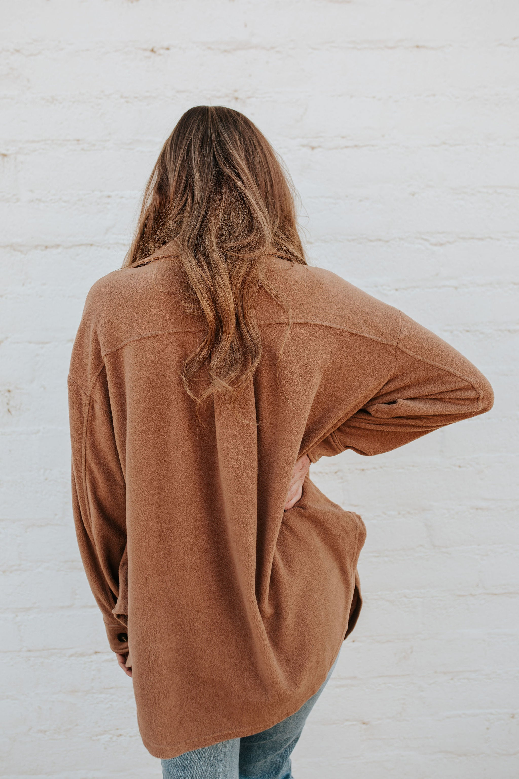 THE CAMERON SHIRT JACKET IN CAMEL