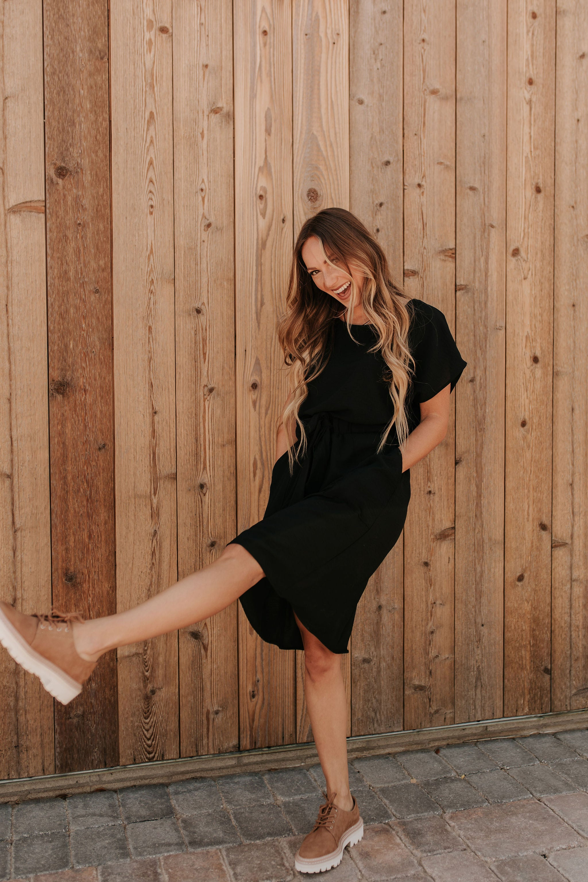 THE EVERMORE MIDI DRESS IN BLACK