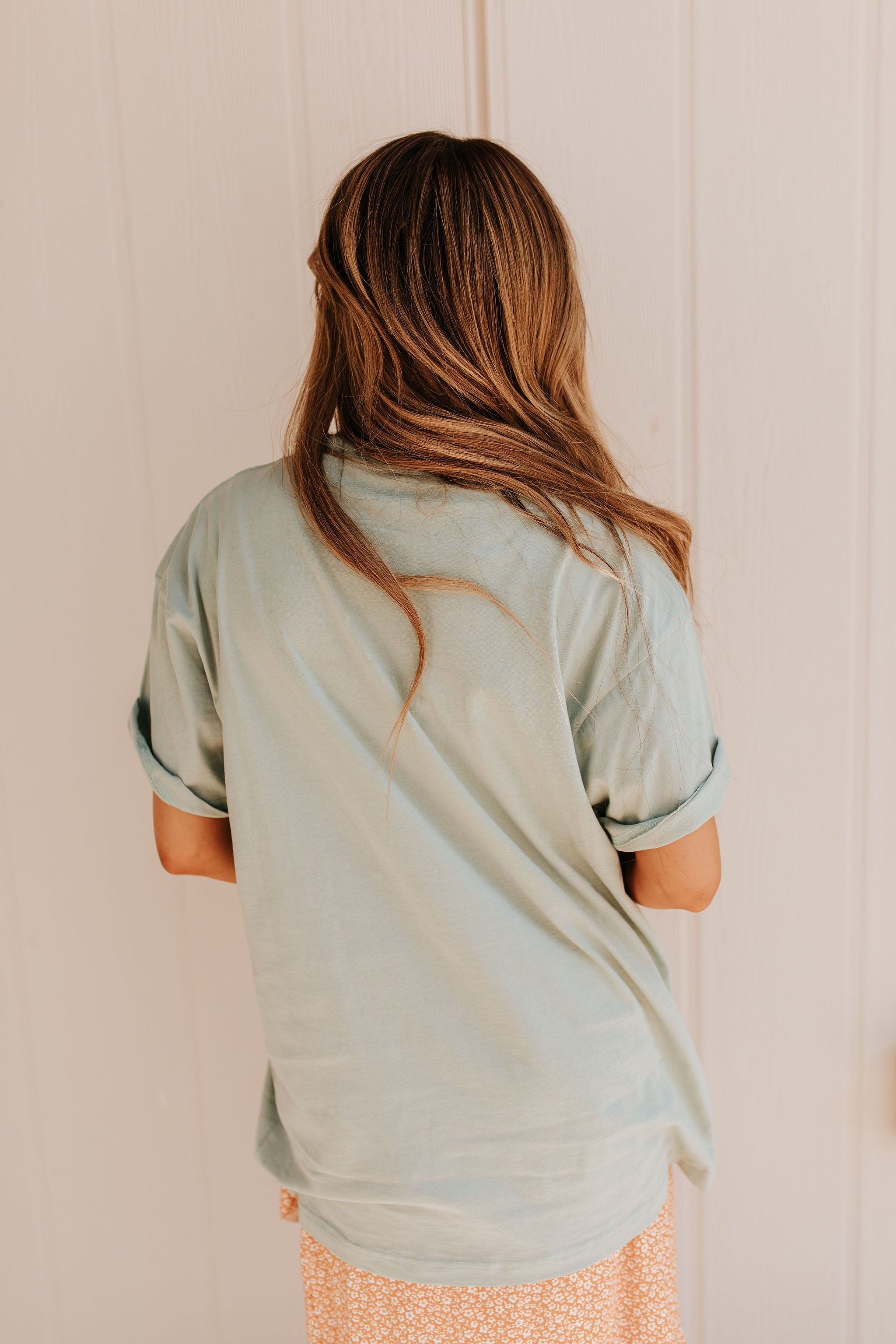 THE RETRO TAKE IT EASY GRAPHIC TEE IN SEAFOAM
