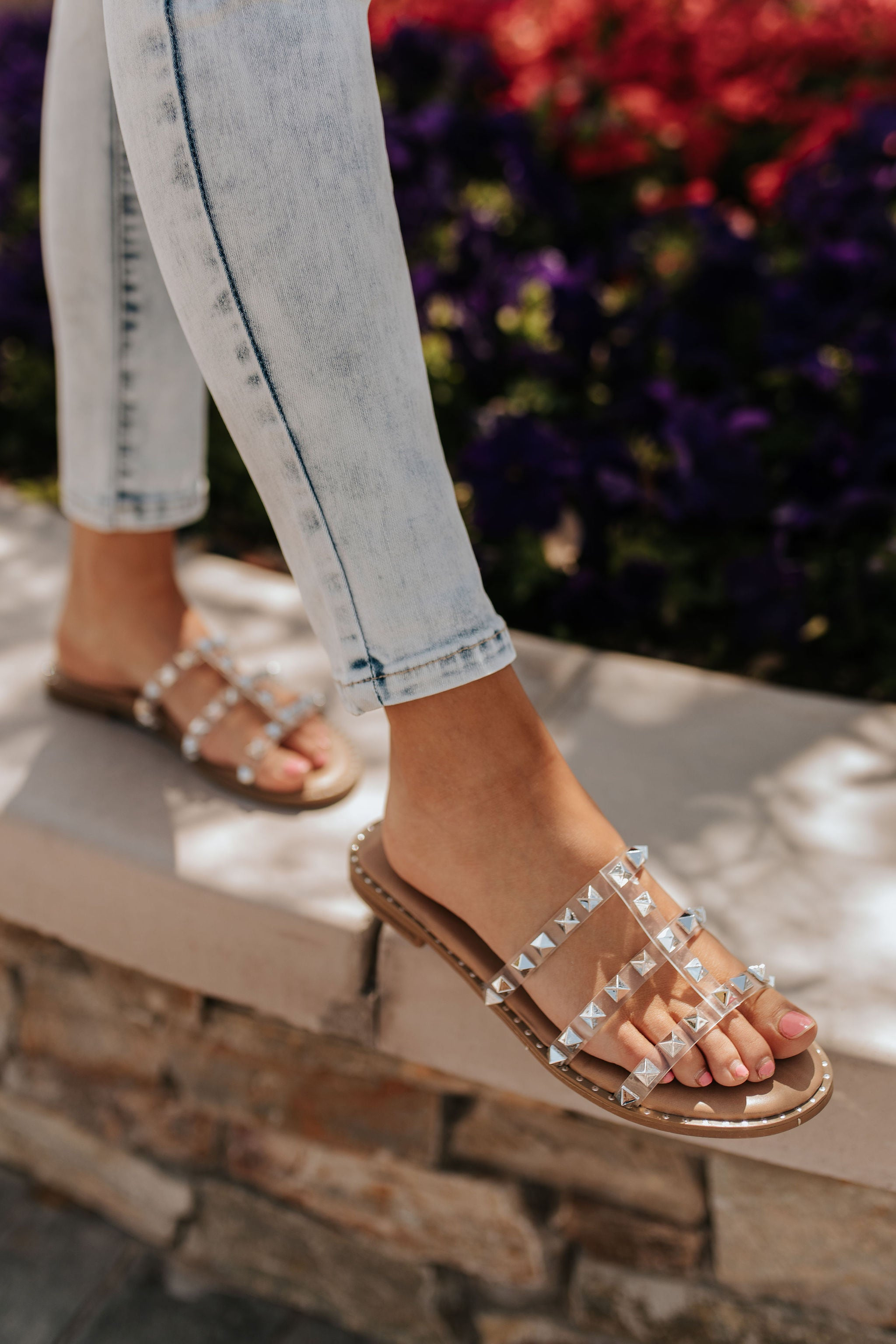 THE SABRINA SLIP ON SANDAL IN SILVER