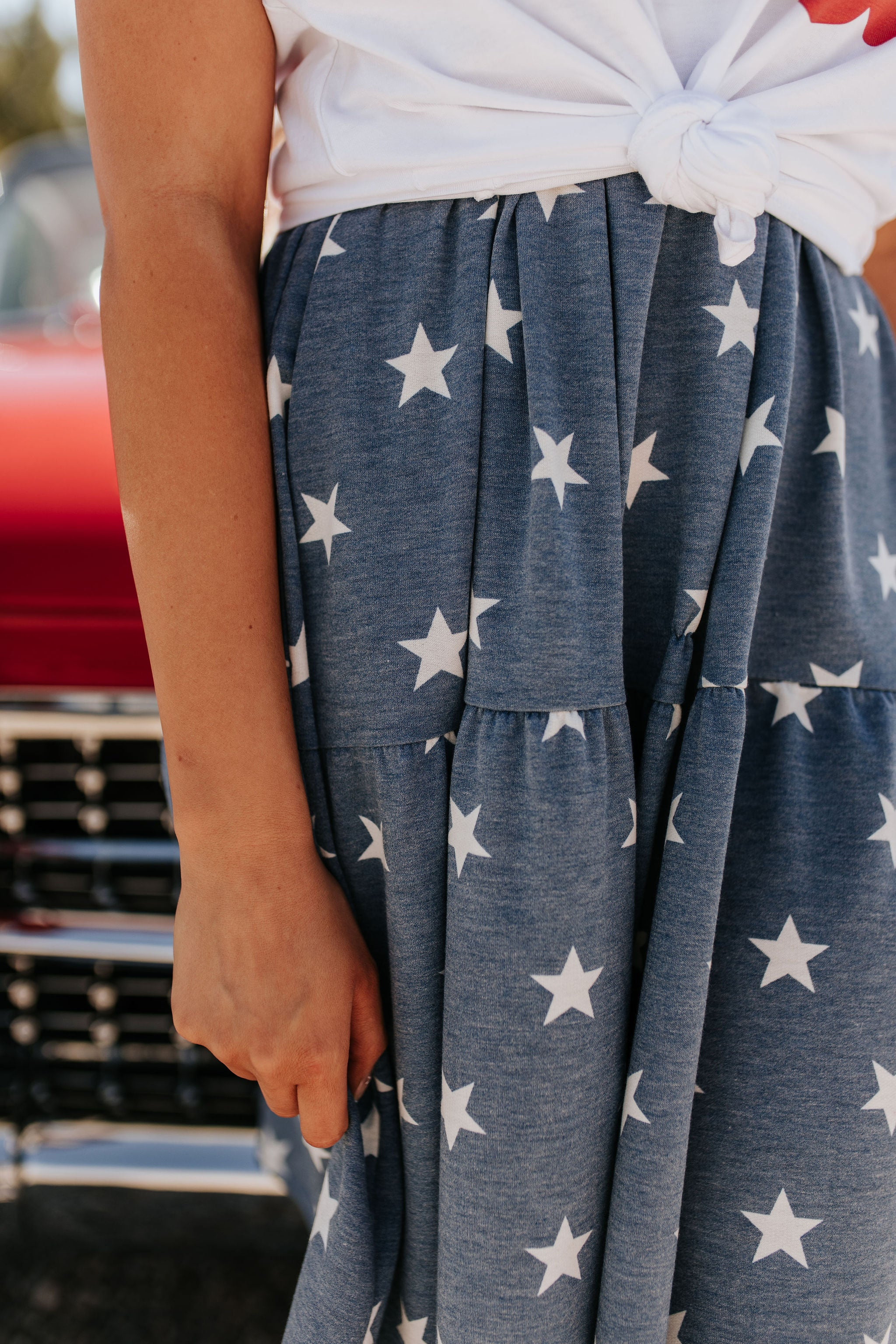 THE STARLEE MINI DRESS IN VINTAGE BLUE