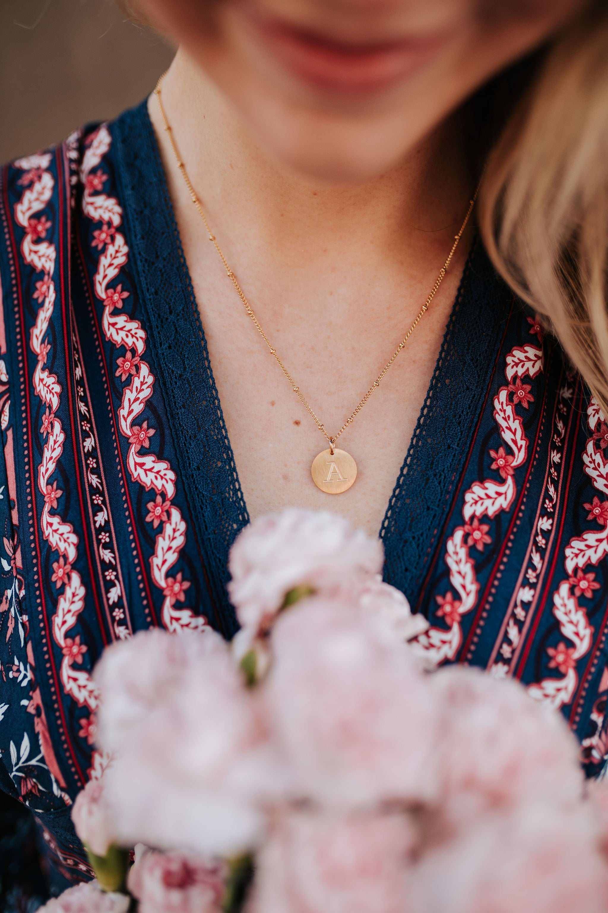 THE GOLD INITIAL COIN NECKLACE