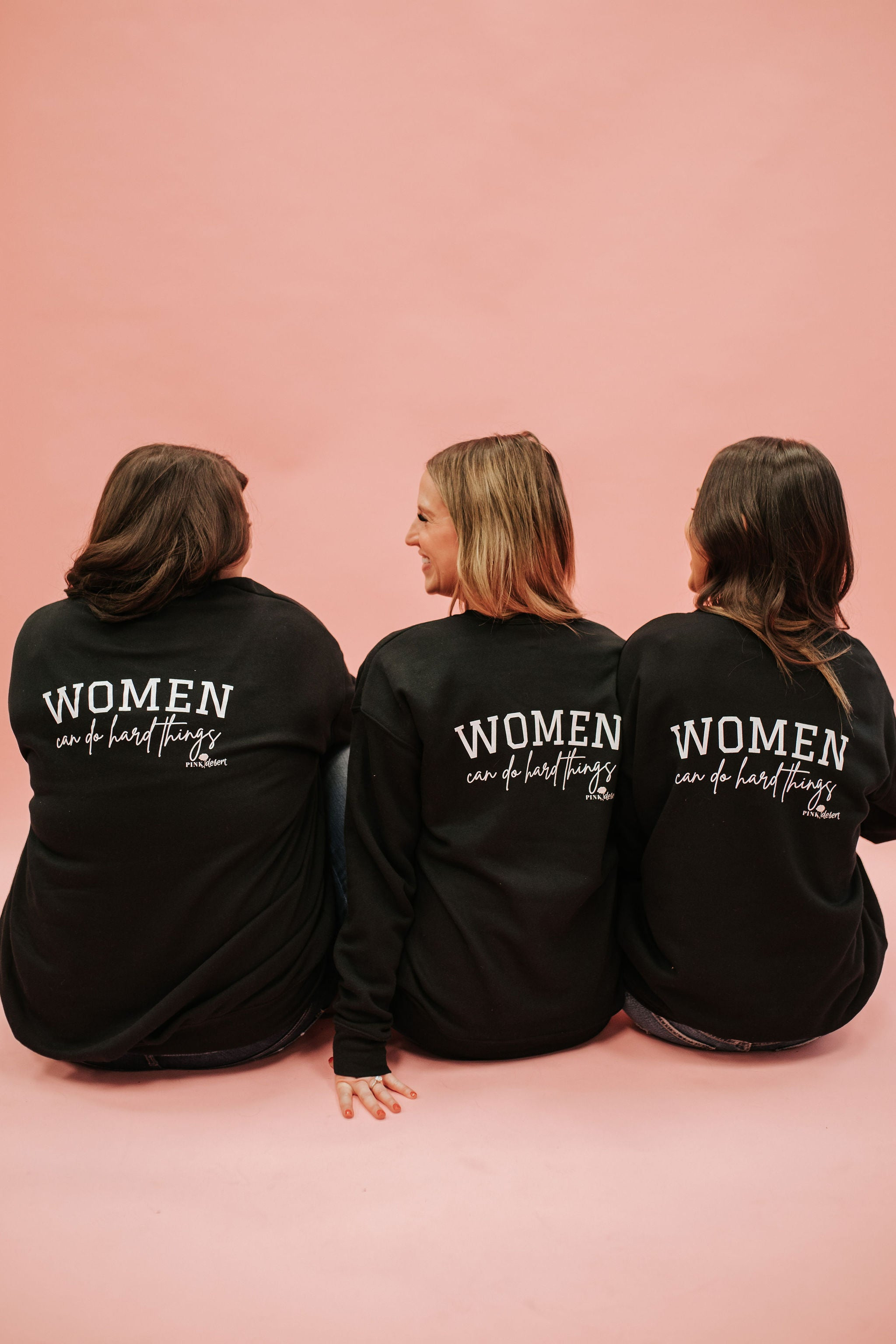 THE PINK DESERT WOMEN CAN DO HARD THINGS PULLOVER