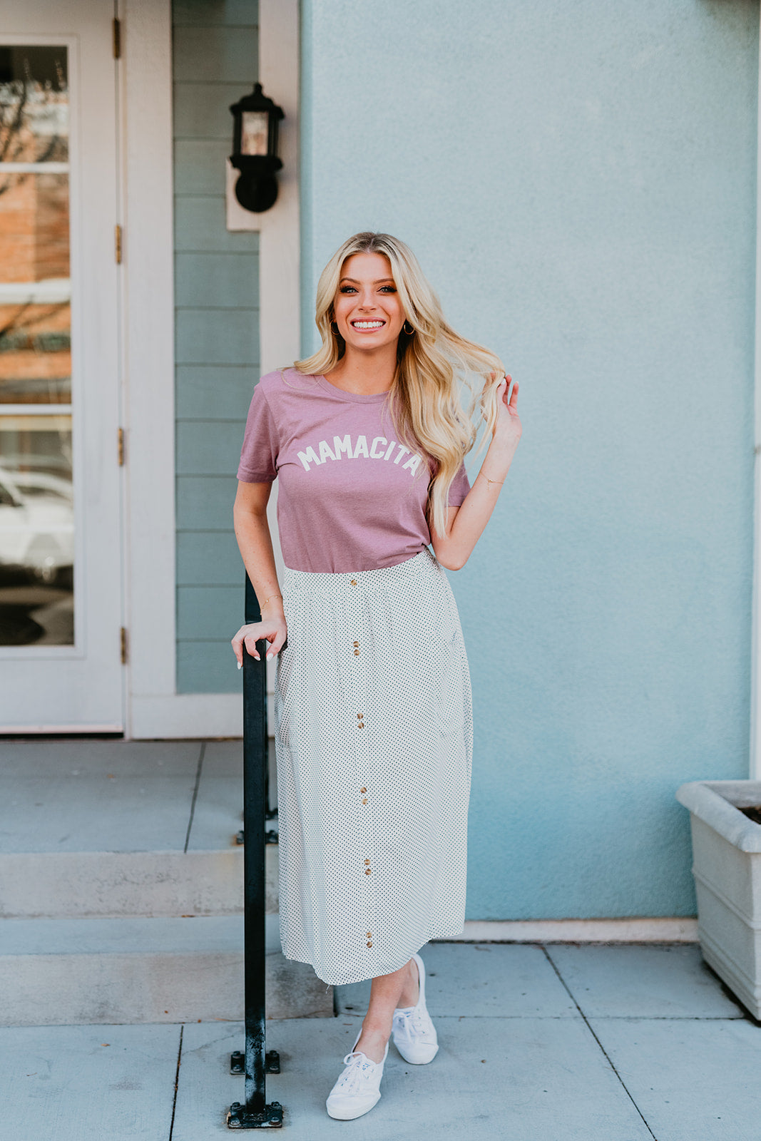 THE MAMACITA TEE IN HEATHER ORCHID