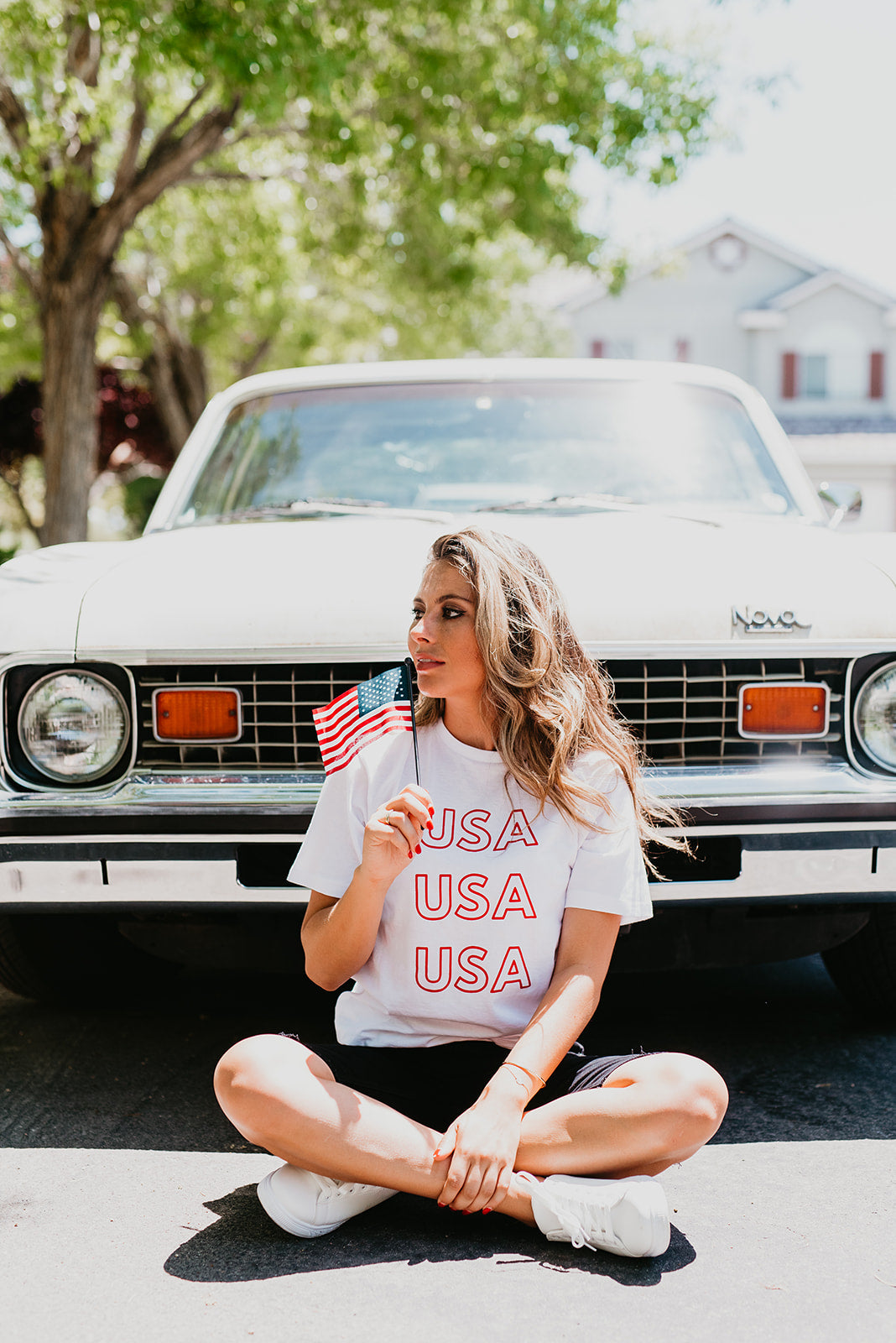 THE USA TEE IN WHITE